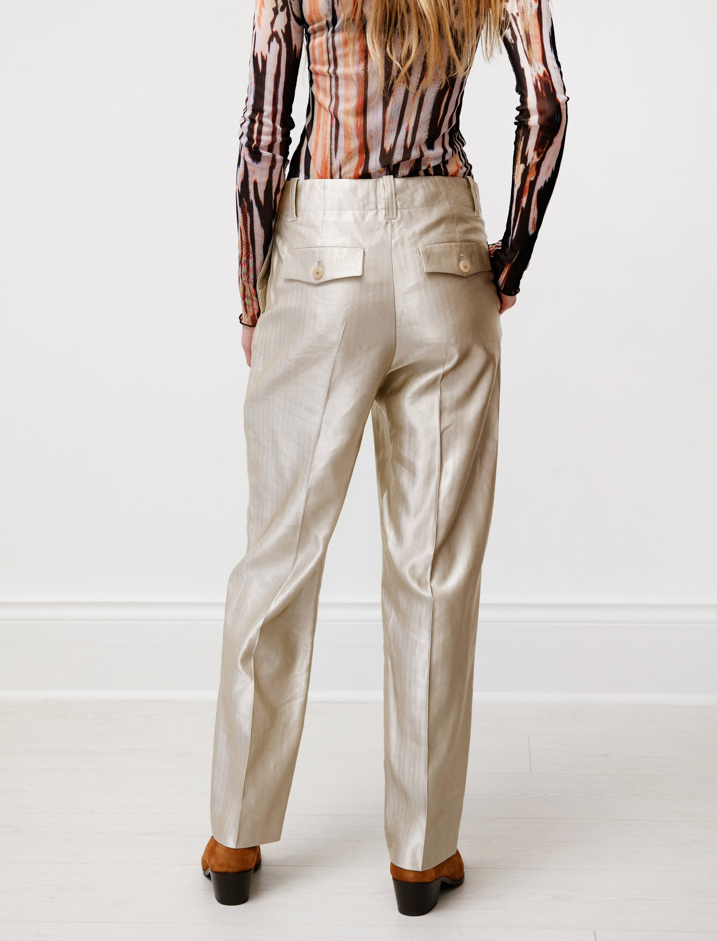 Our Legacy Service Trouser Beige Stripe