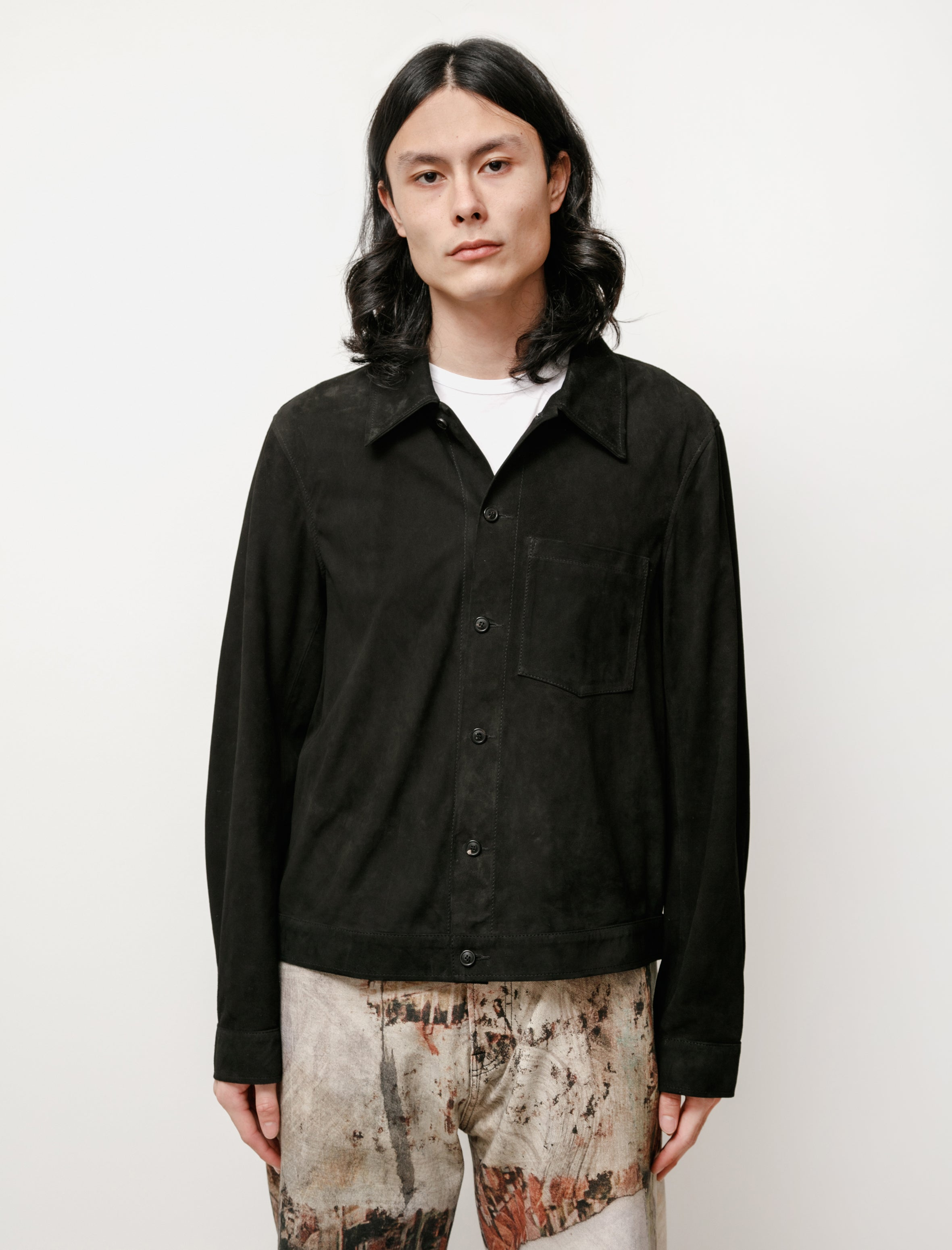Our Legacy Reincarnation Suede Shirt Black