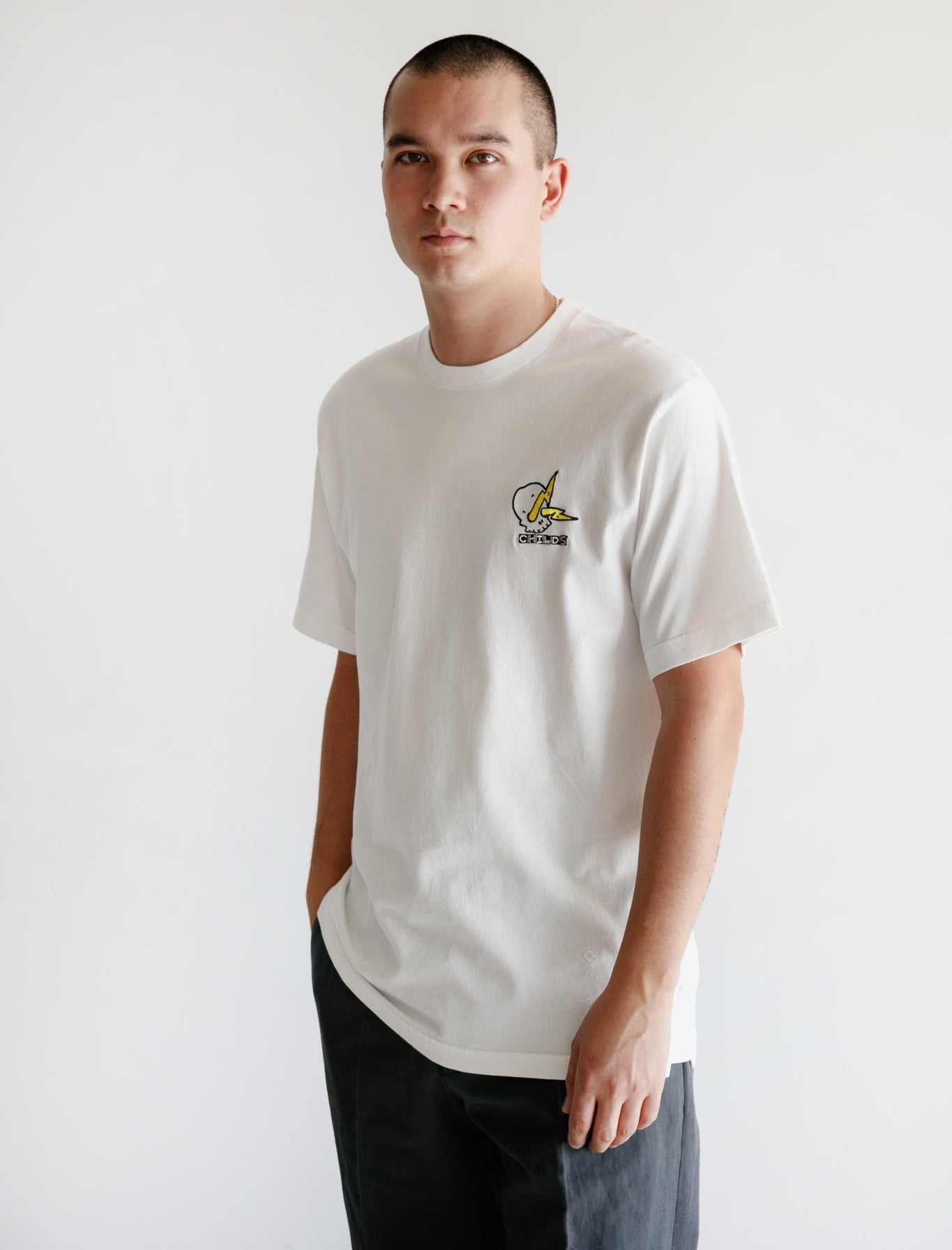 Embroidered Clean T White