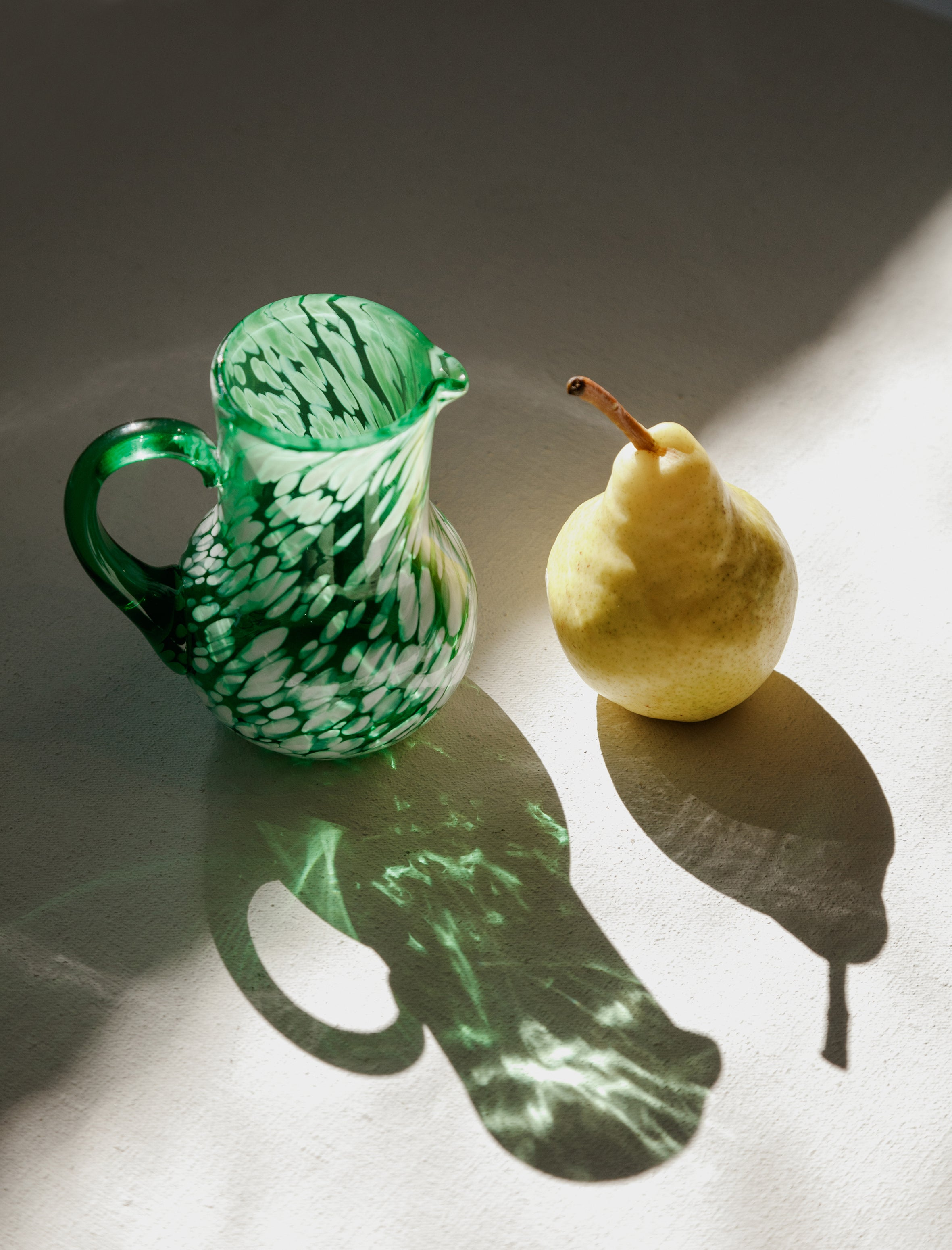 Found Murano Green+White Speckled Mini Pitcher