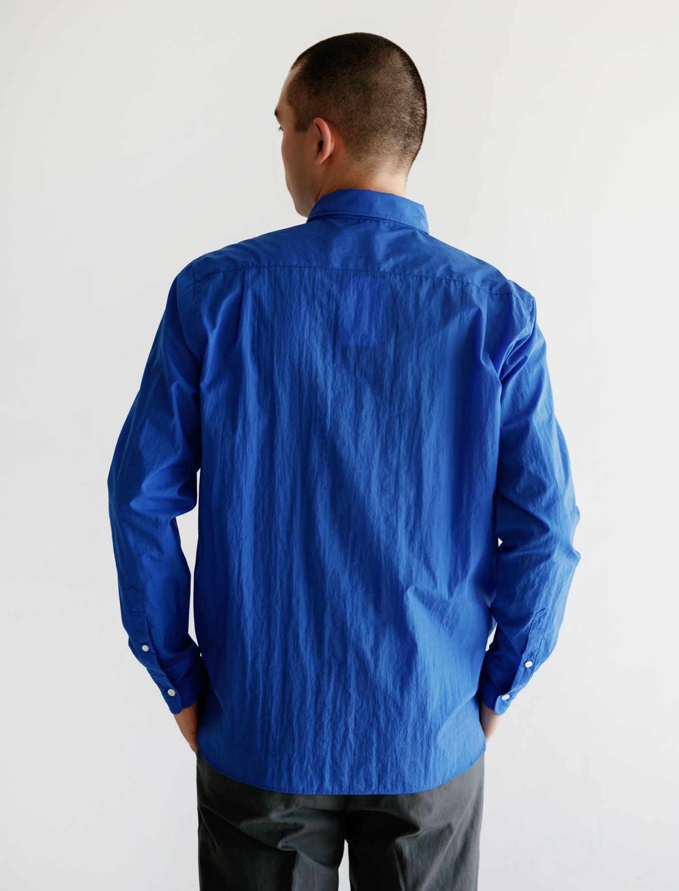 Nylon Buttondown Blue