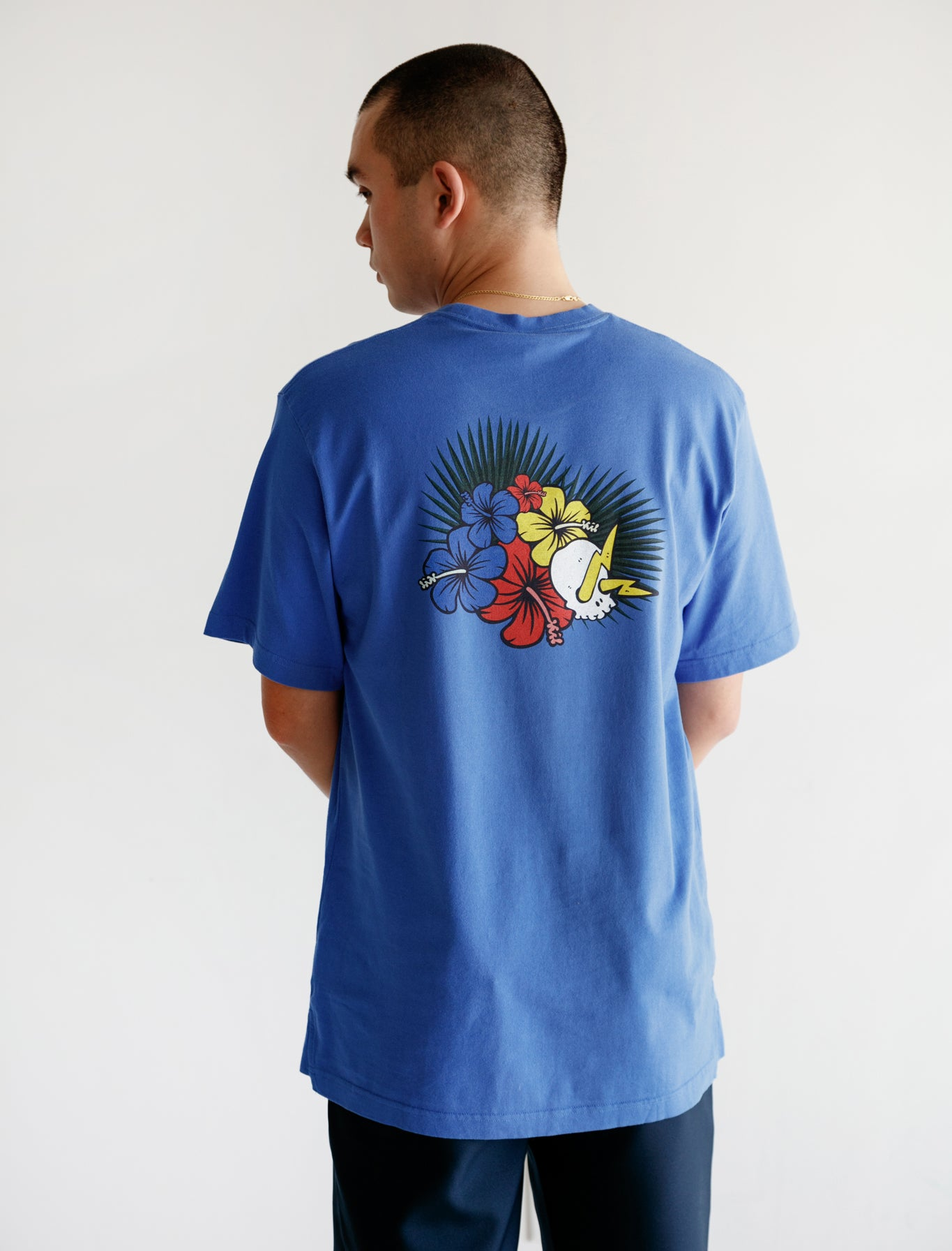 Printed Clean T Amparo Blue