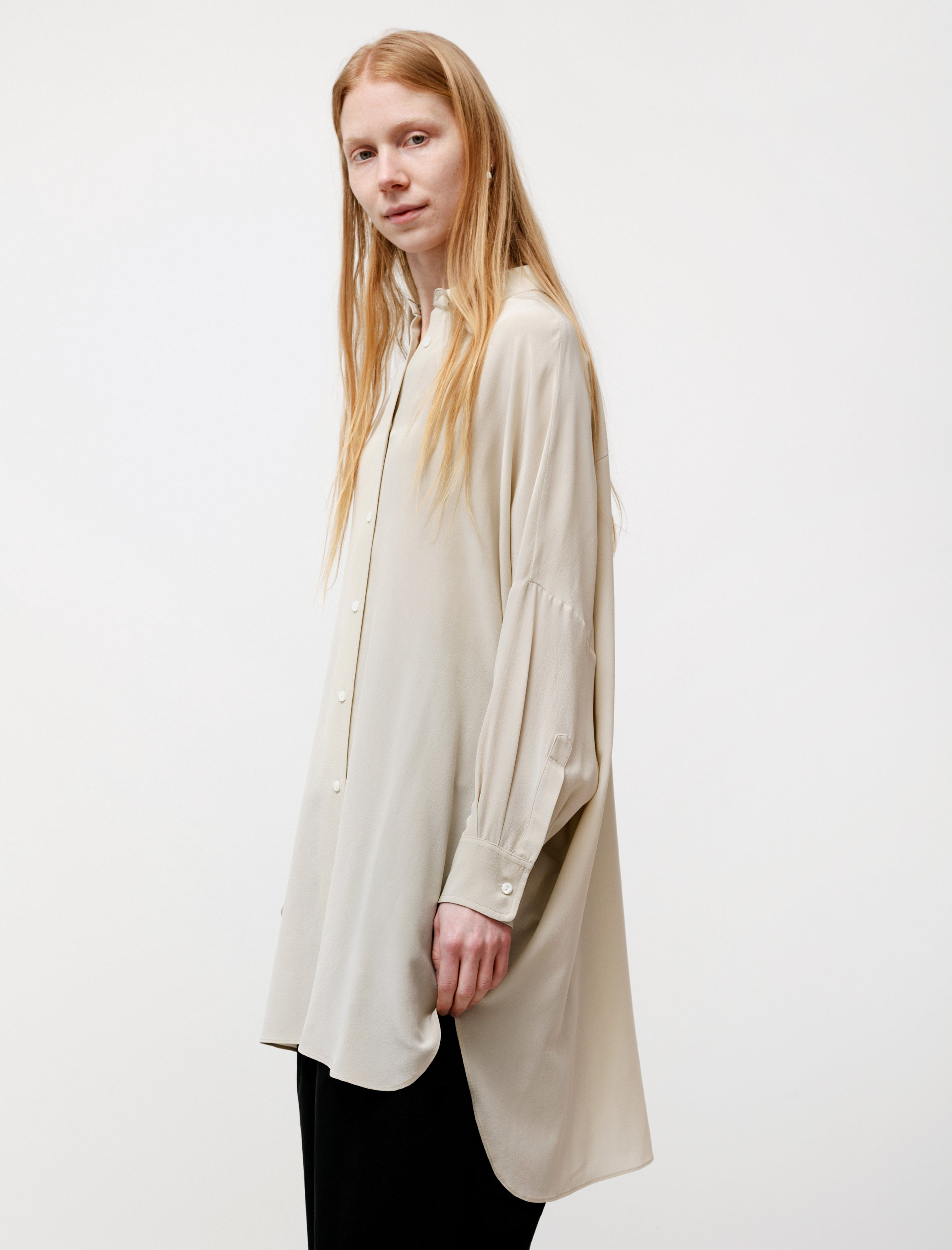Dusan Oversized Silk Shirt Chino