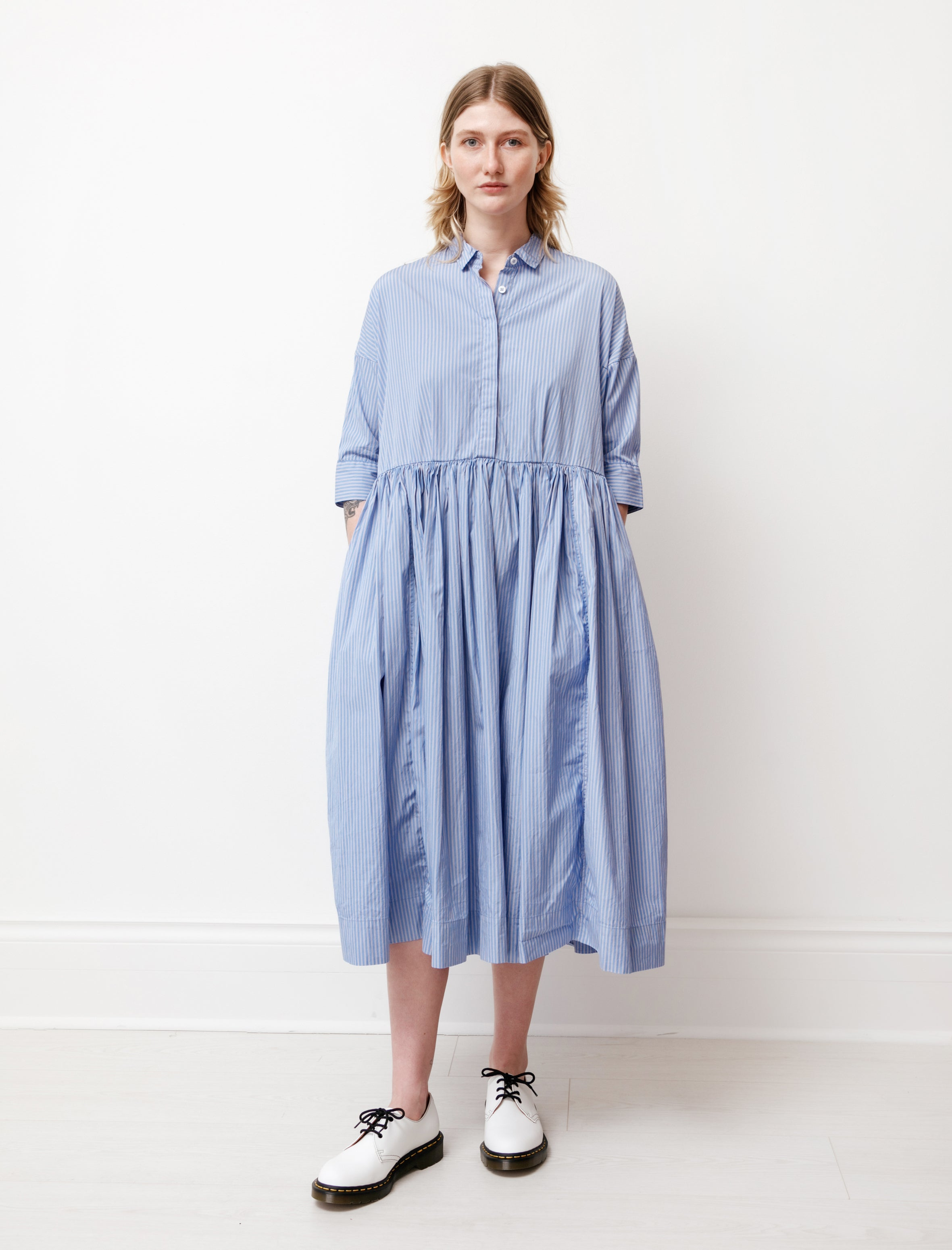 Casey Casey Stephanie Dress Blue Stripe