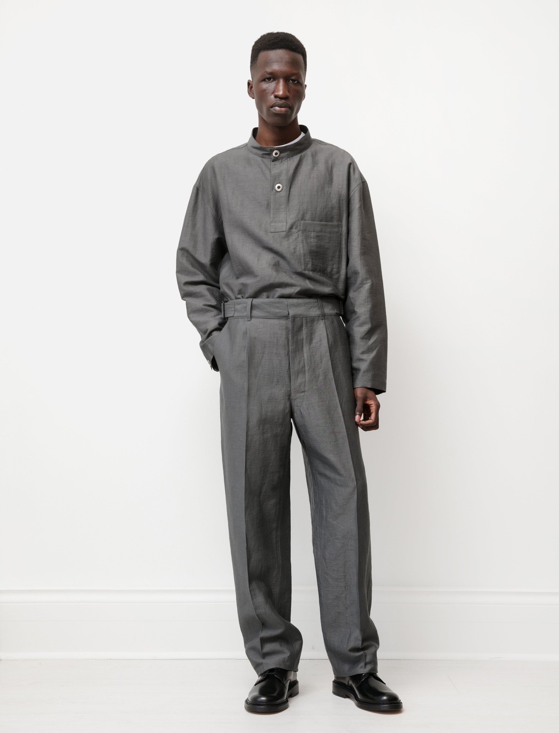 Lemaire Military Chino Pants Dark Stone