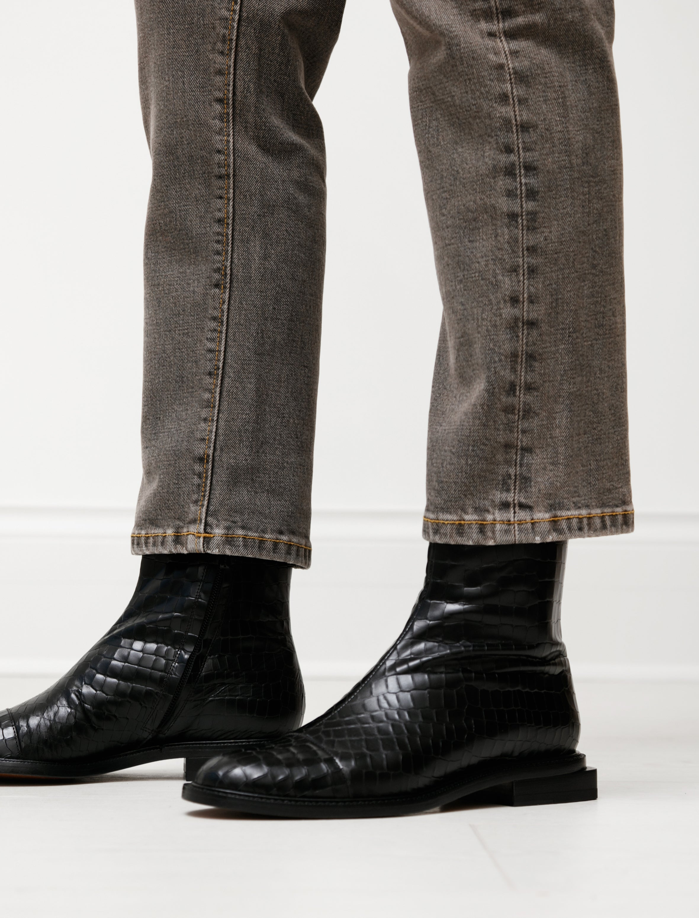 Clergerie Raphi Stamped Croco Boot