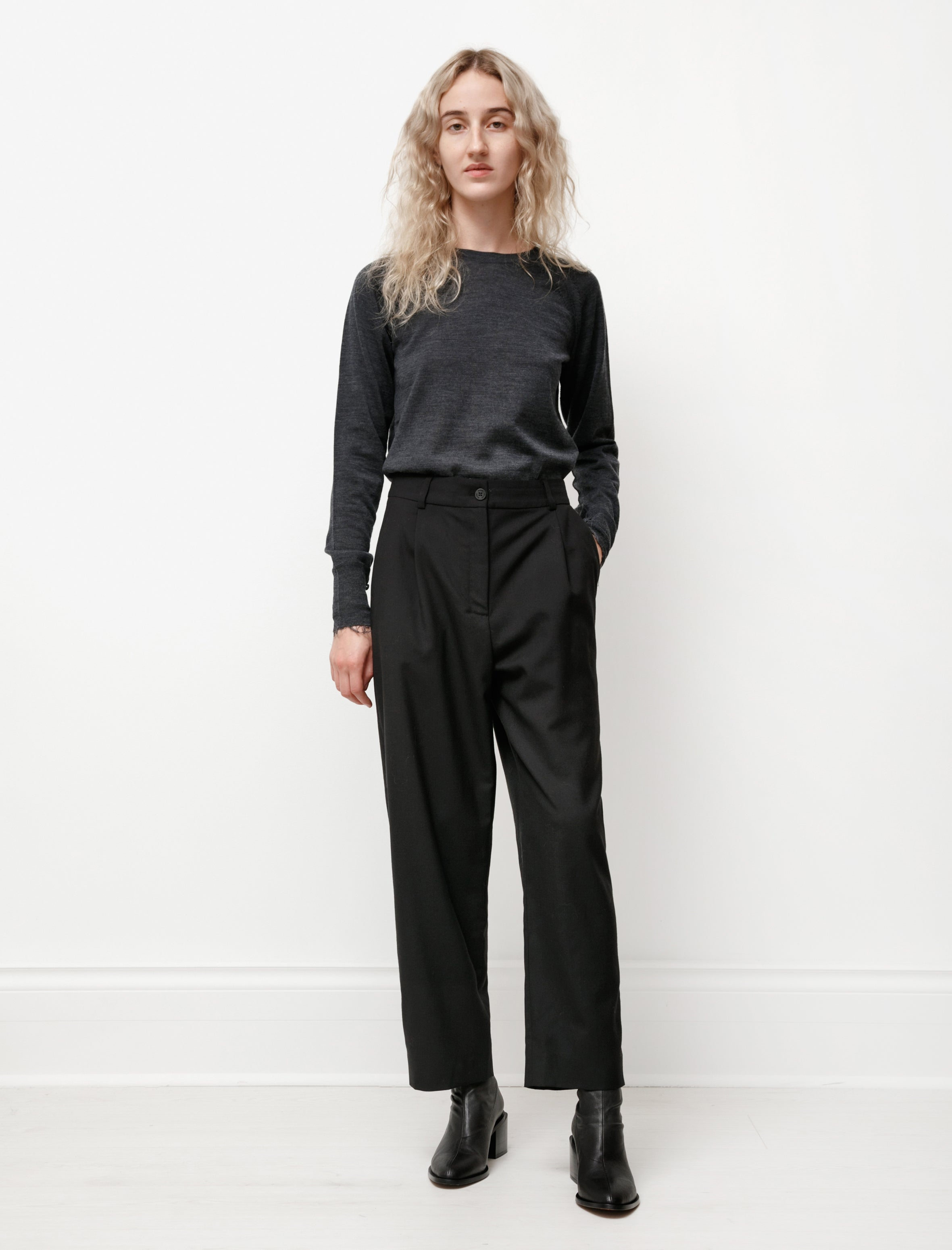 Norse Projects Nina Wool Trousers Black