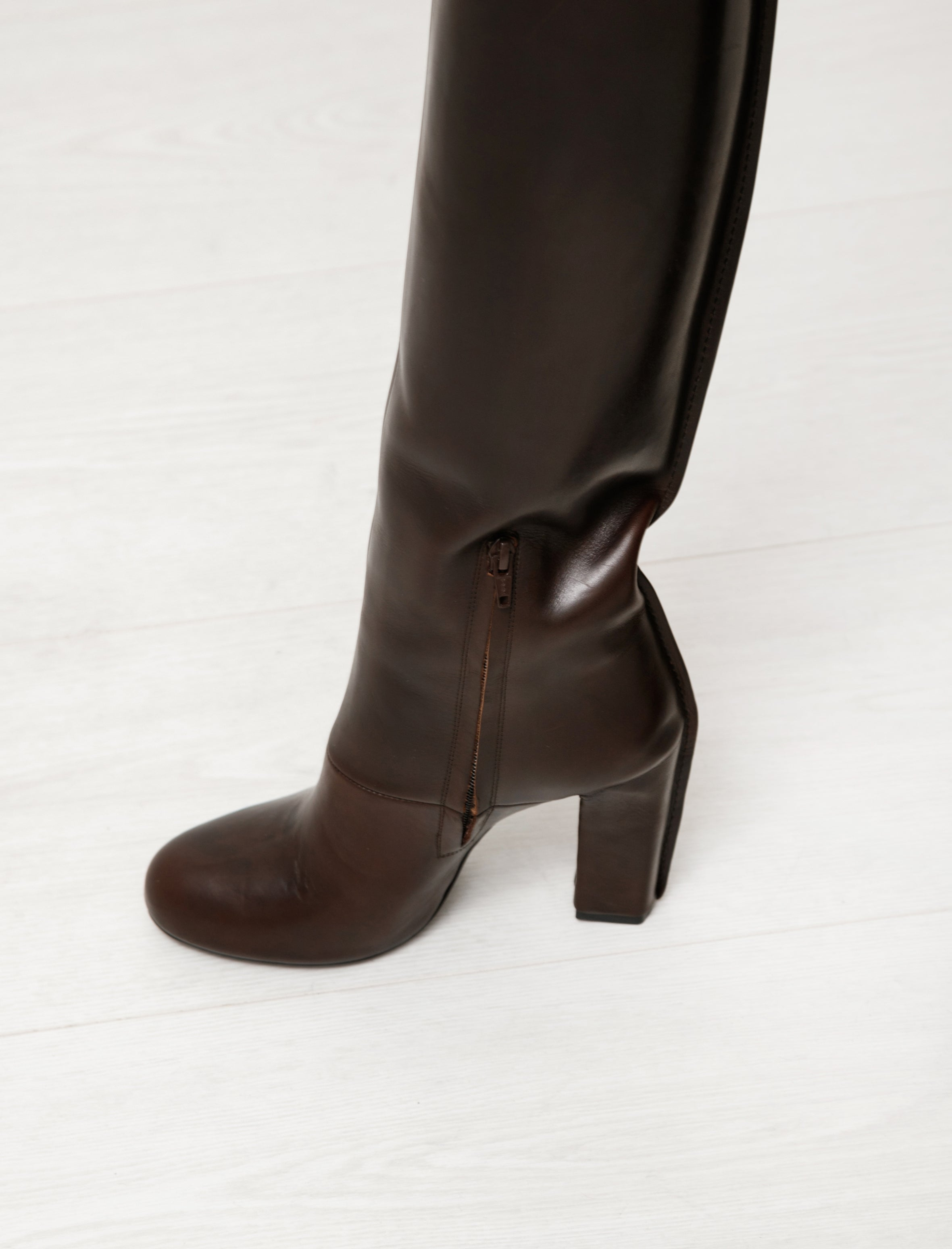 Lemaire High Boots Midnight Brown