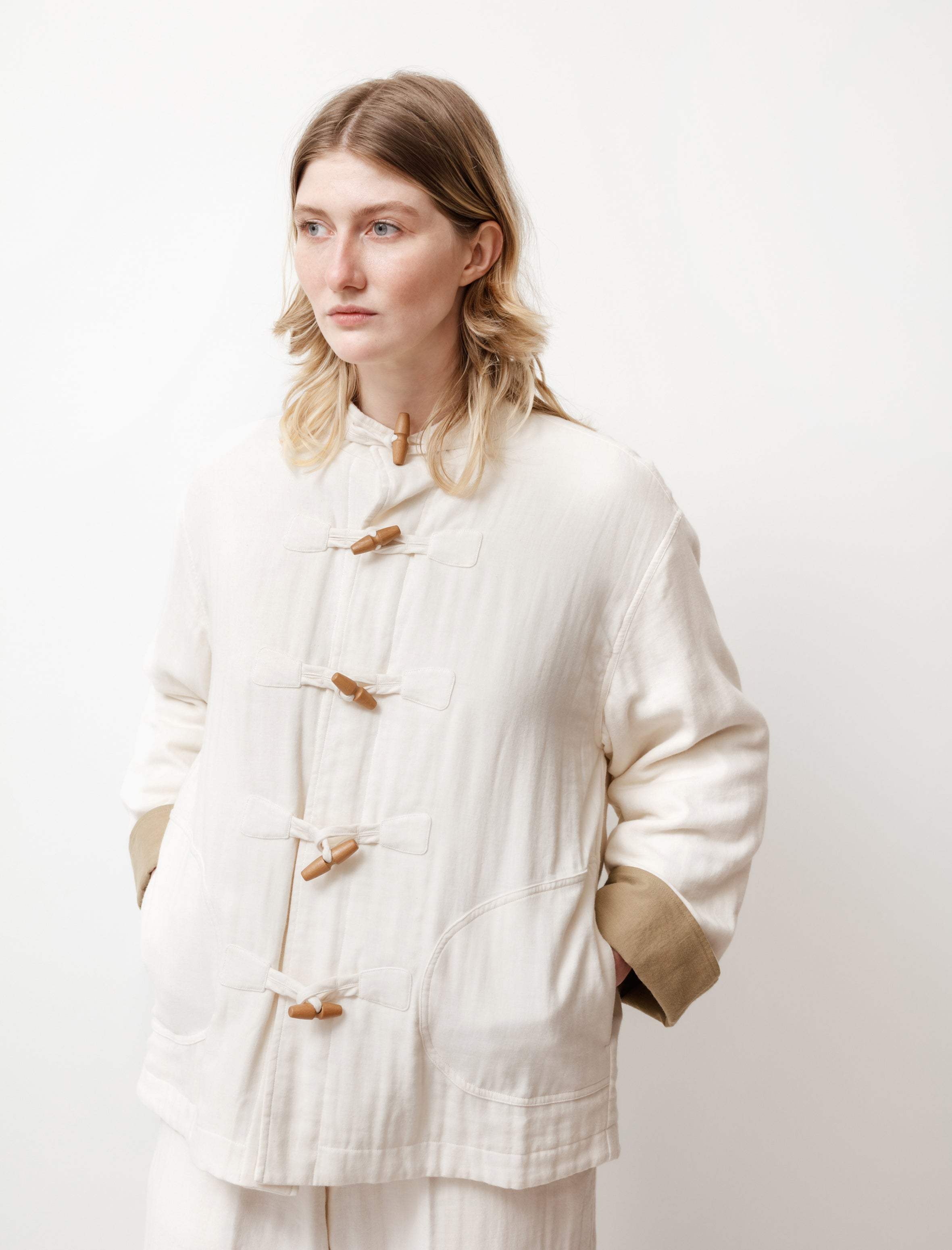Cristaseya Japanese Triple Gauze Jacket White