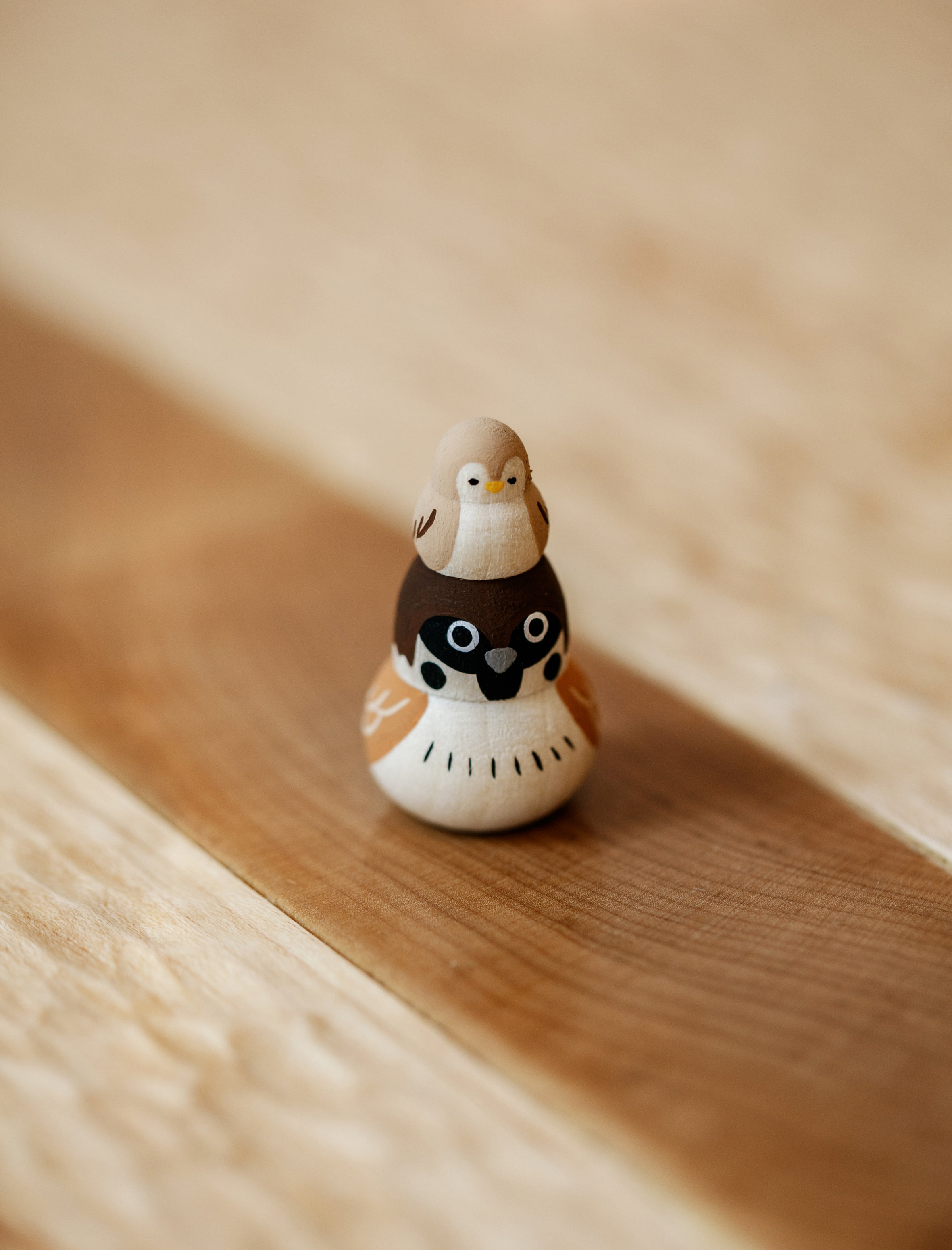 Sparrow + Chick Wooden Toy