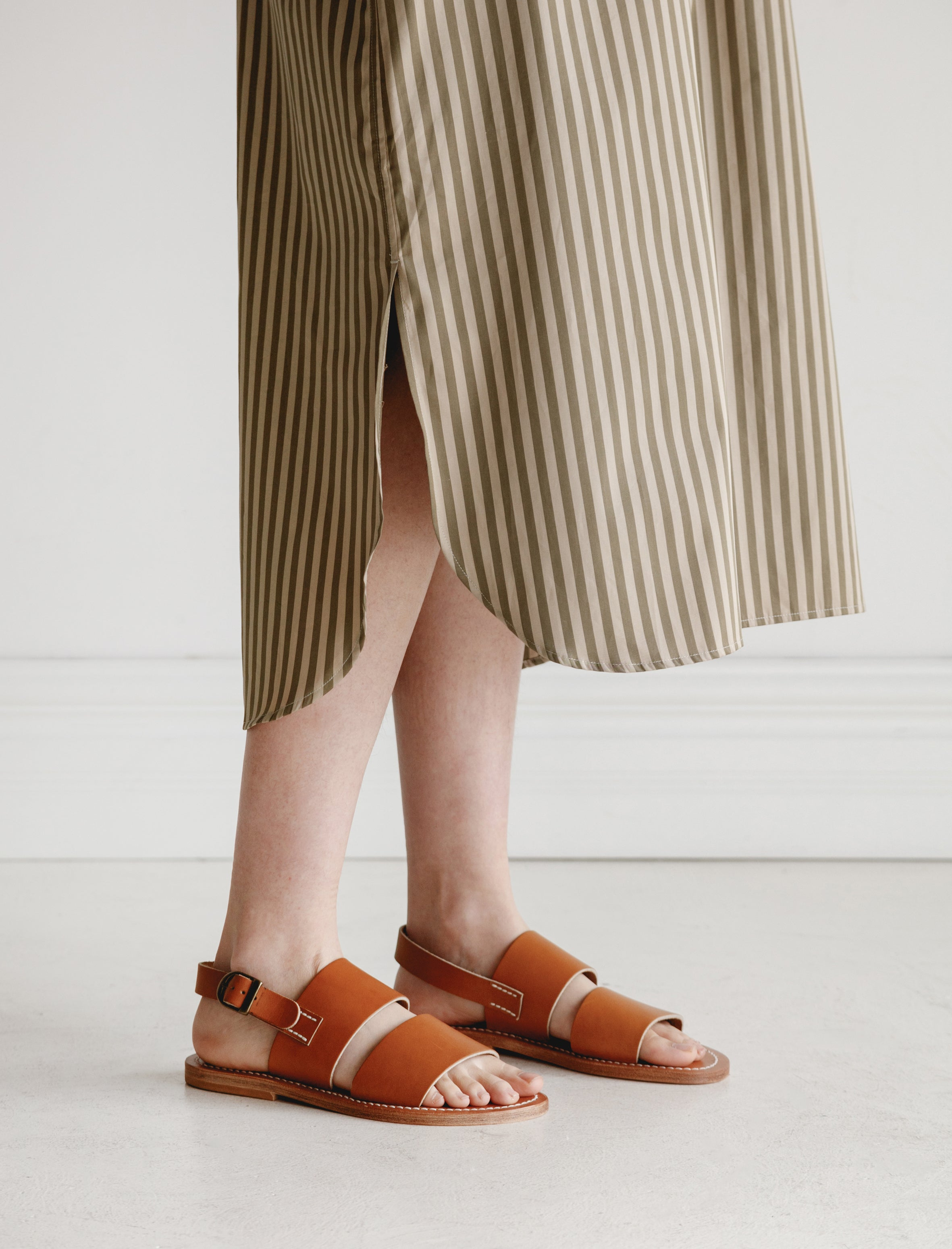 CristaSeya K. Jacques Natural Leather Sandals