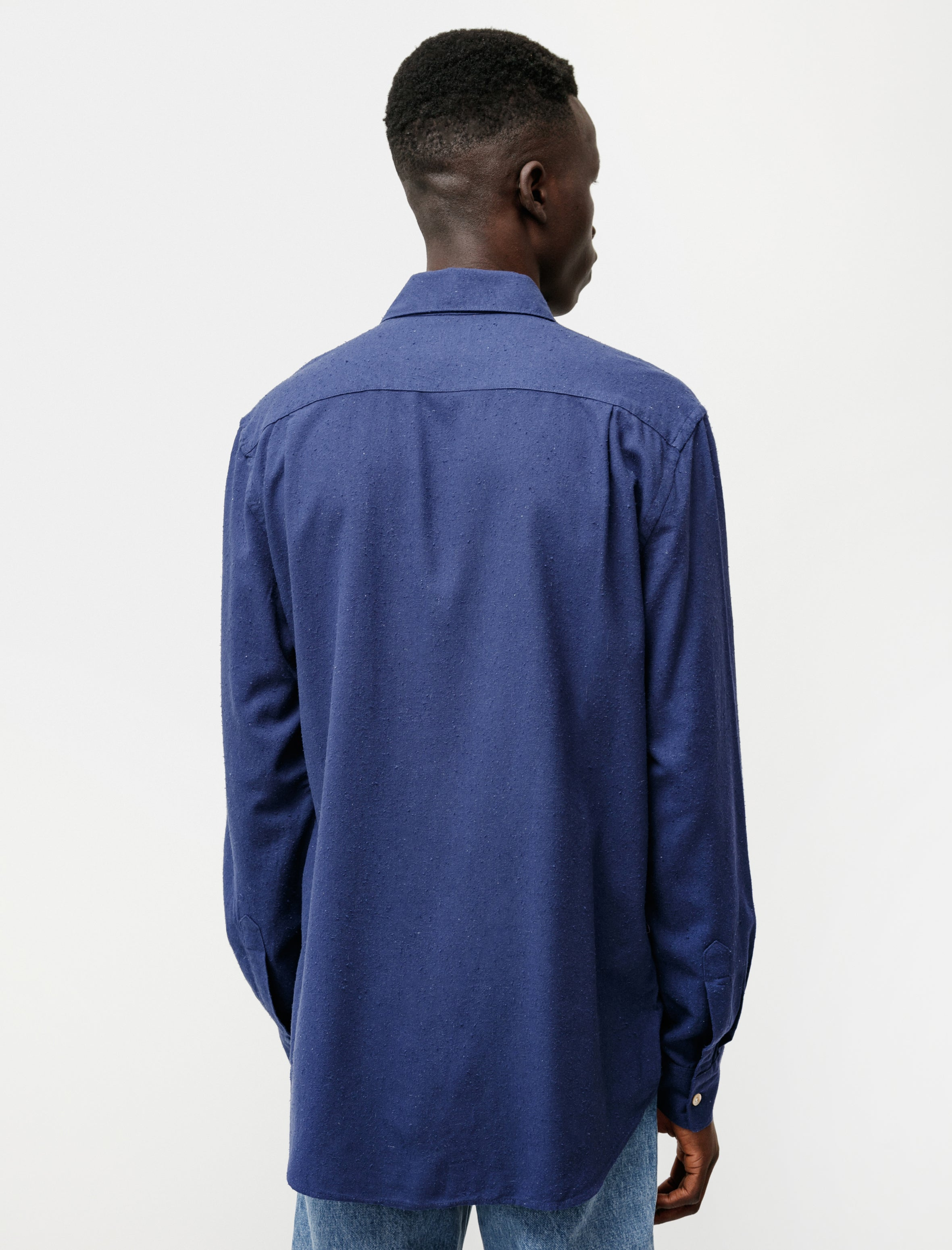 Our Legacy Classic Shirt Scilla Blue Silk Noil