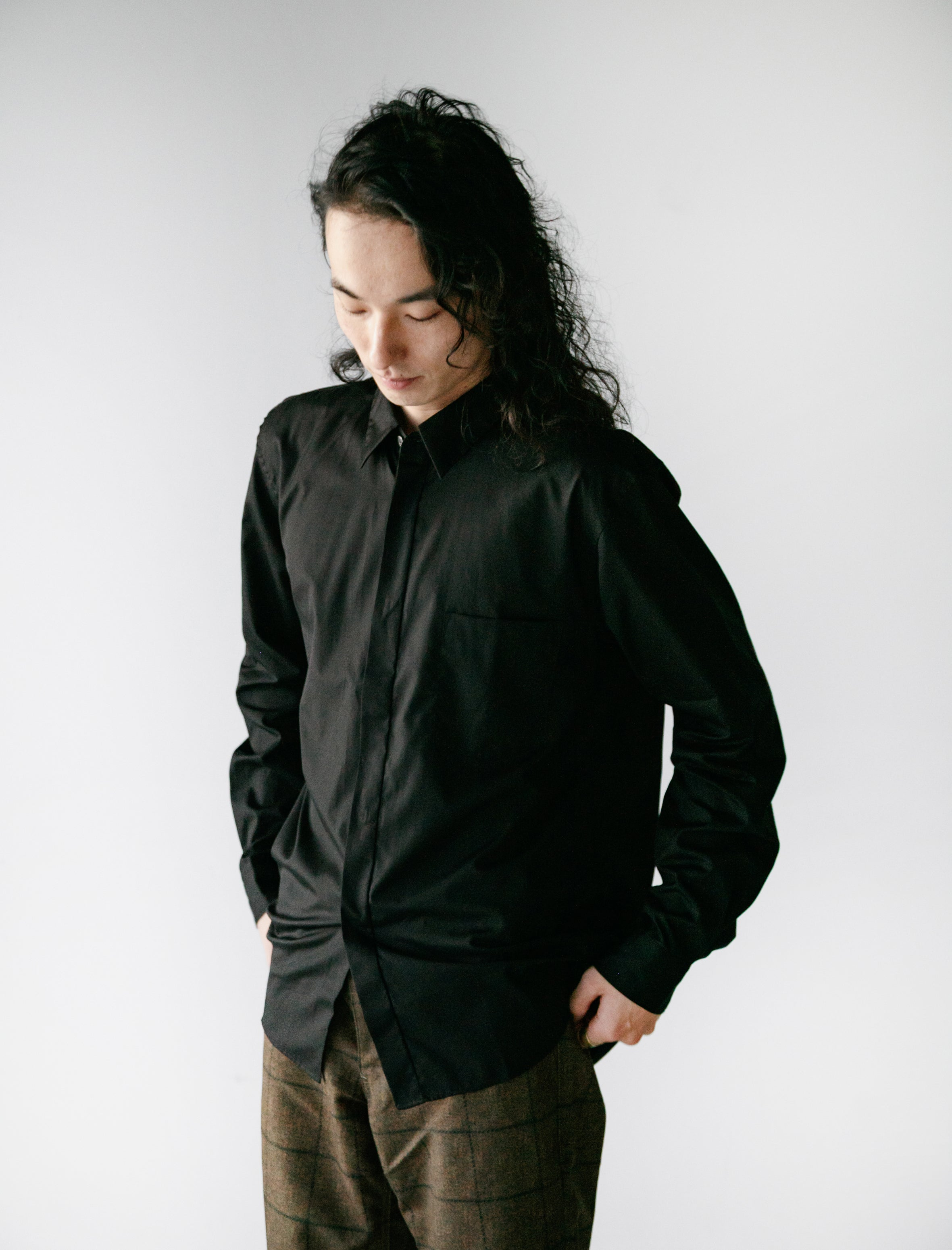 Cotton Broad Shirt Black