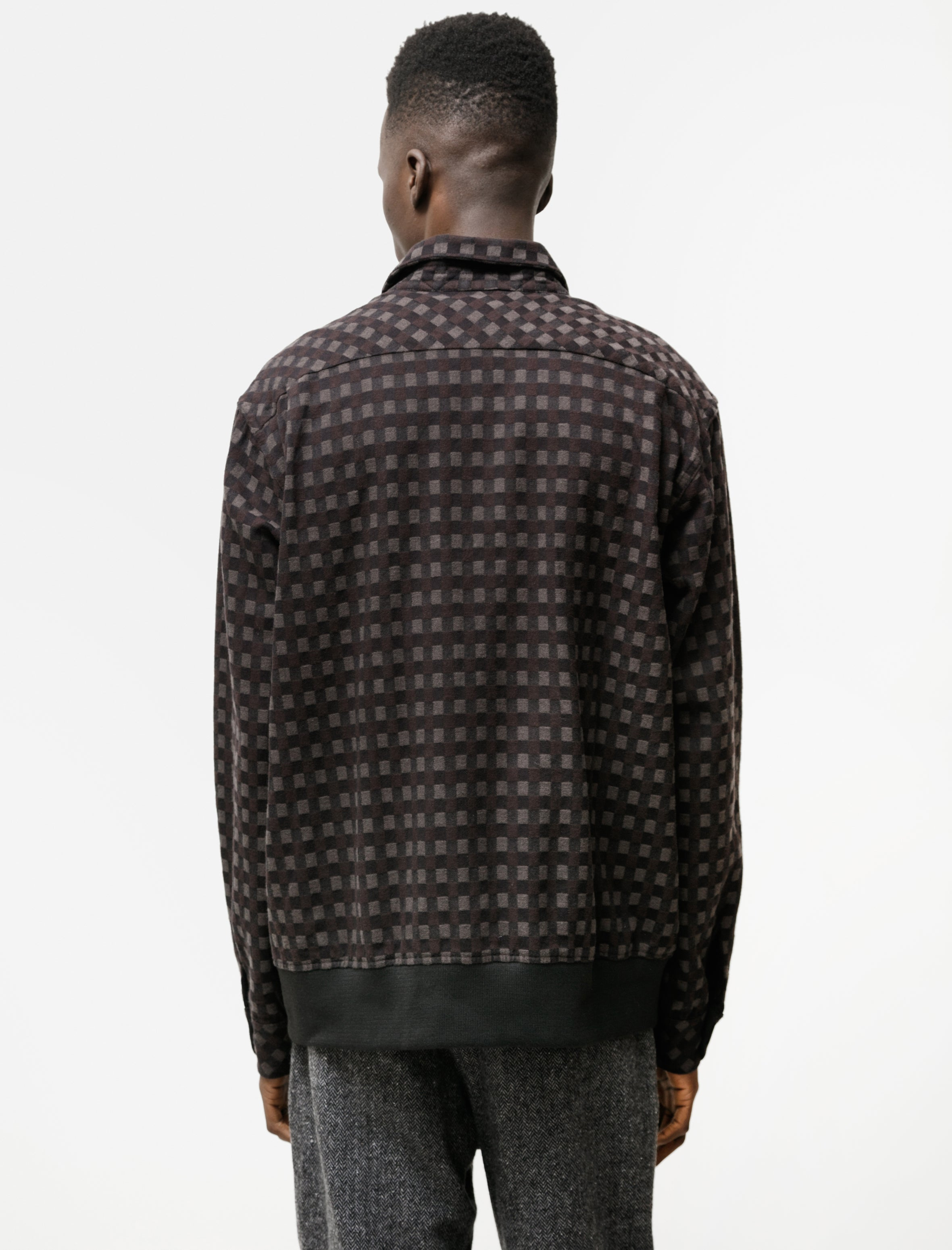 Engineered Garments Classic Shirt Vintage Check Black Brown