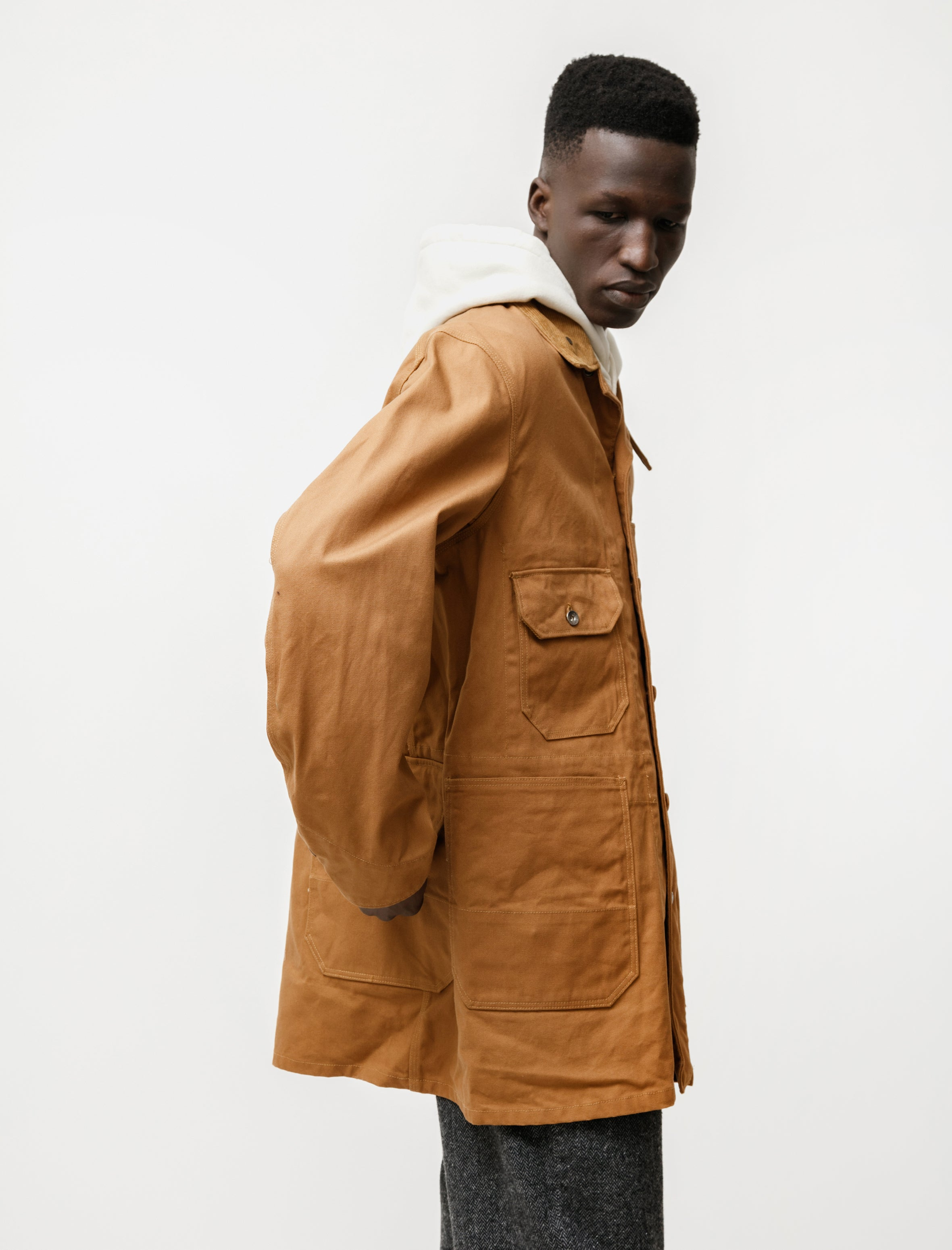 Engineered Garments Long Logger Jacket 12oz Duck Canvas Brown