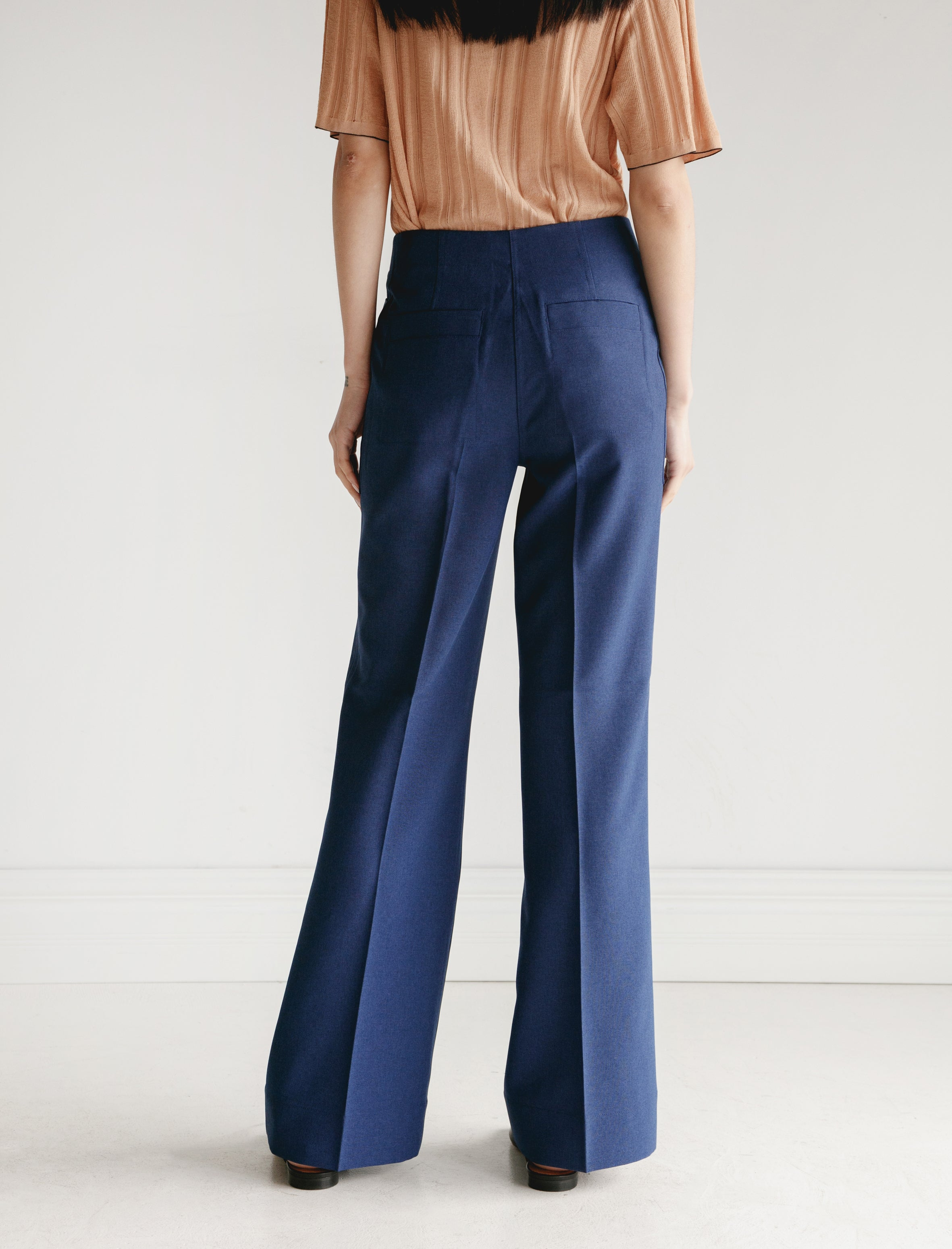 Acne Studios Portia Trousers Workwear Blue