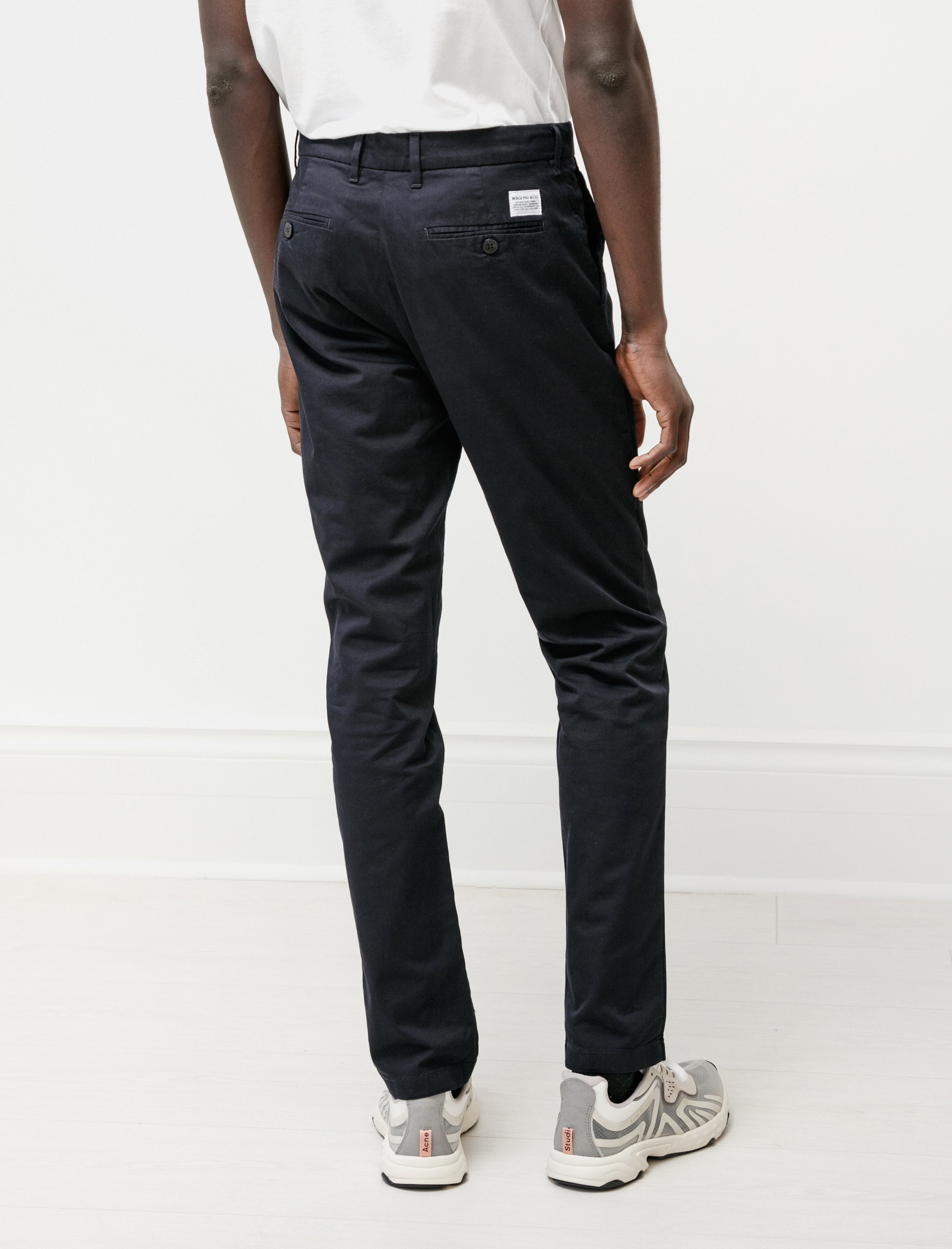 Norse Projects Aros Slim Light Stretch Dark Navy