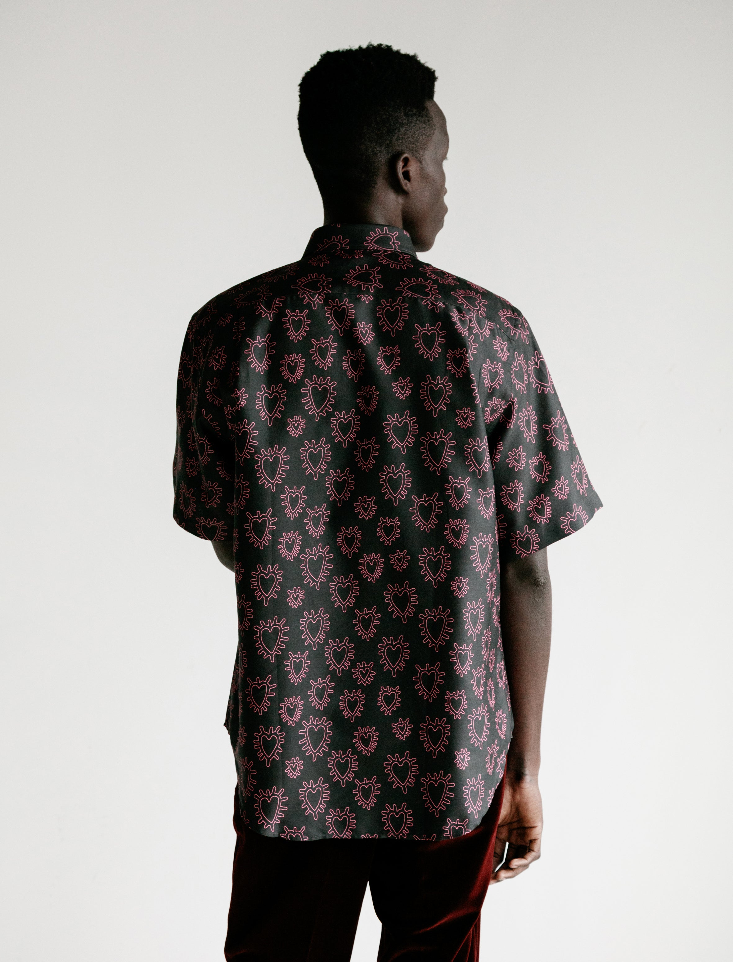 Cobra S.C. SS Model 1 Shirt Printed Silk Pink Hearts
