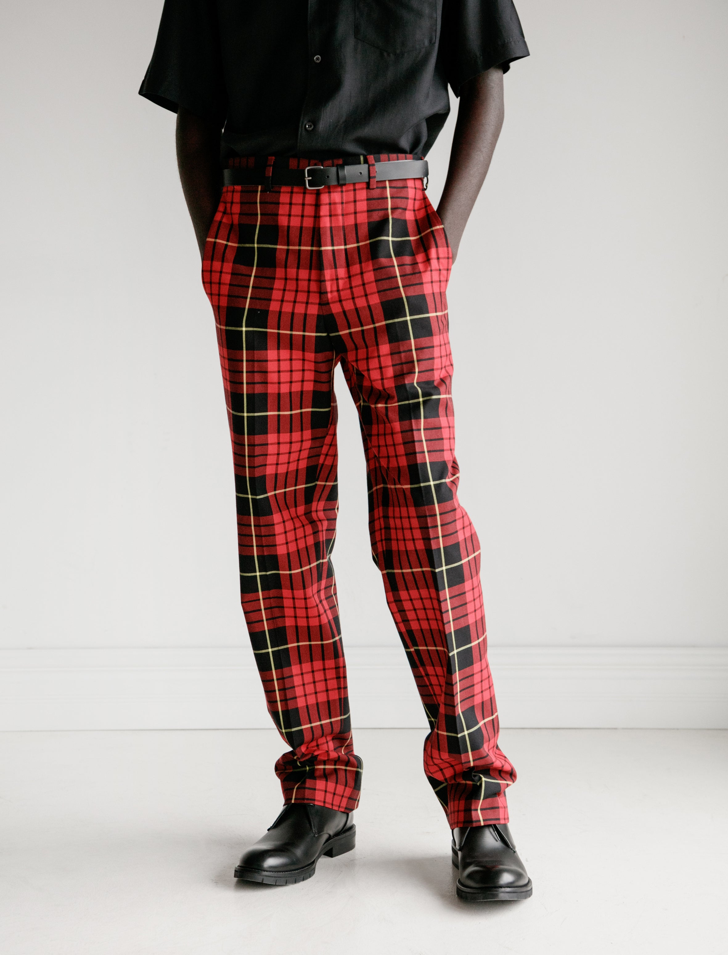 Cobra S.C. Classics Trouser Cotton Twill Red/Black Plaid