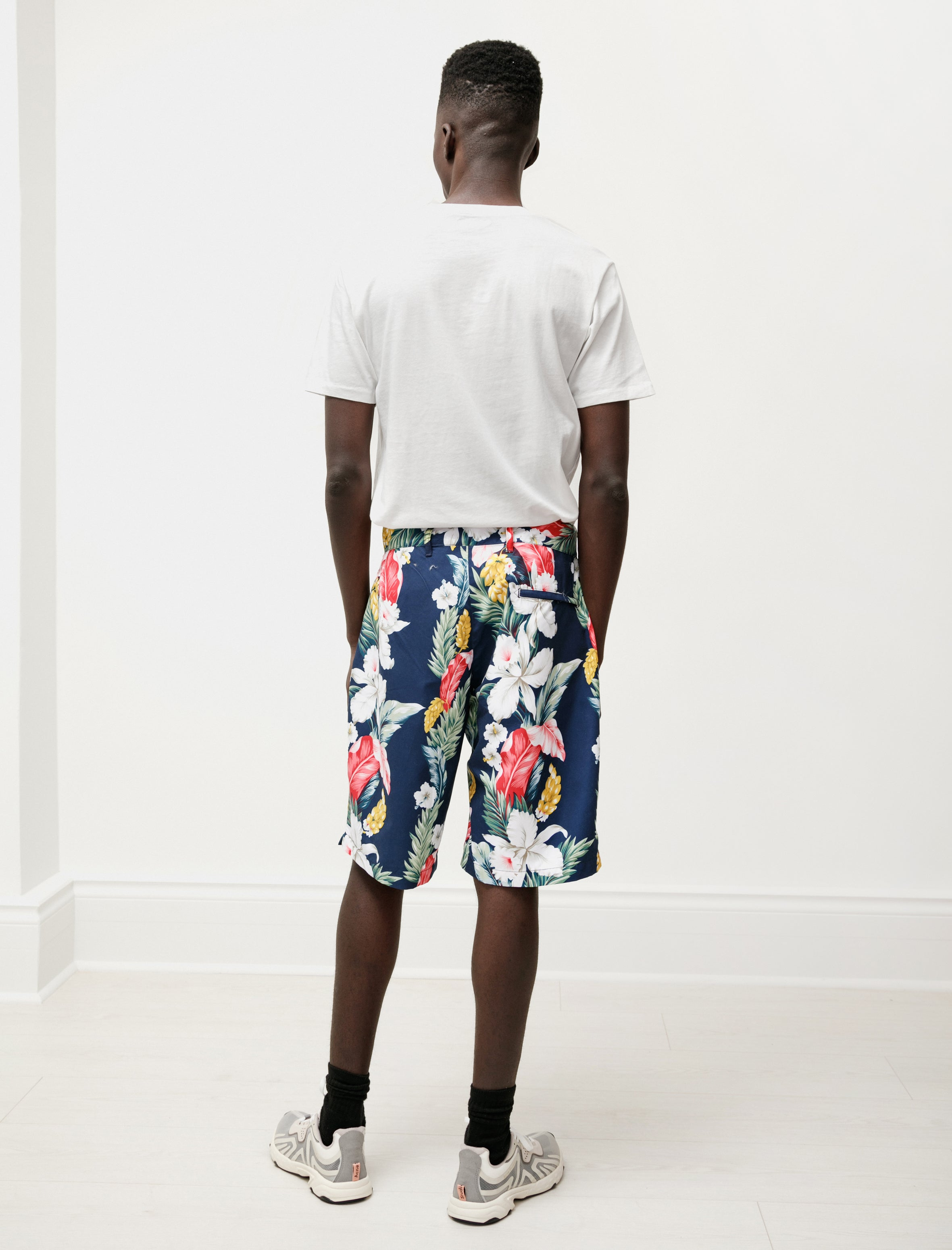 Engineered Garments Sunset Short Navy Hawaiian Floral