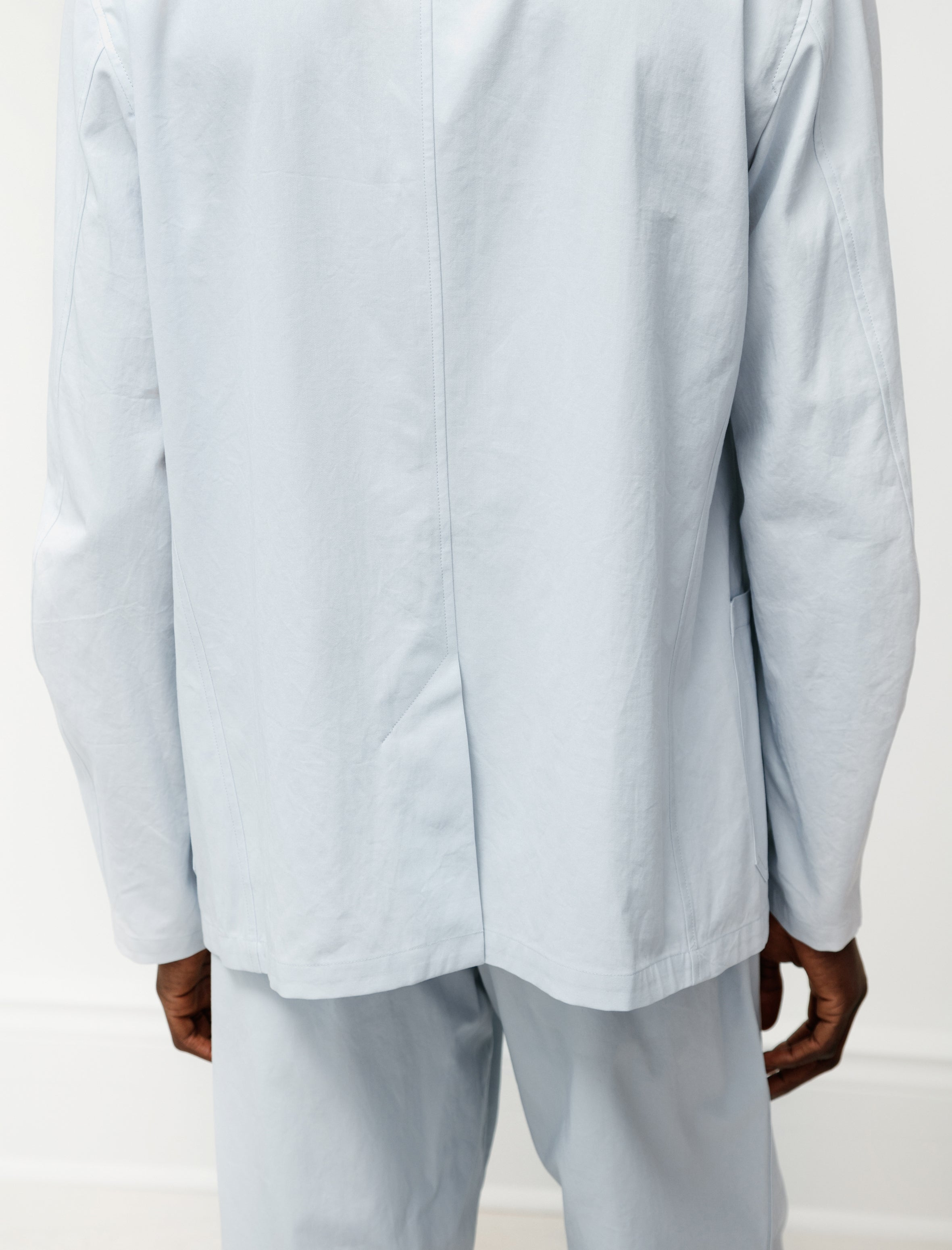 Auralee Finx Hard Twist Gabardine Jacket Light Blue