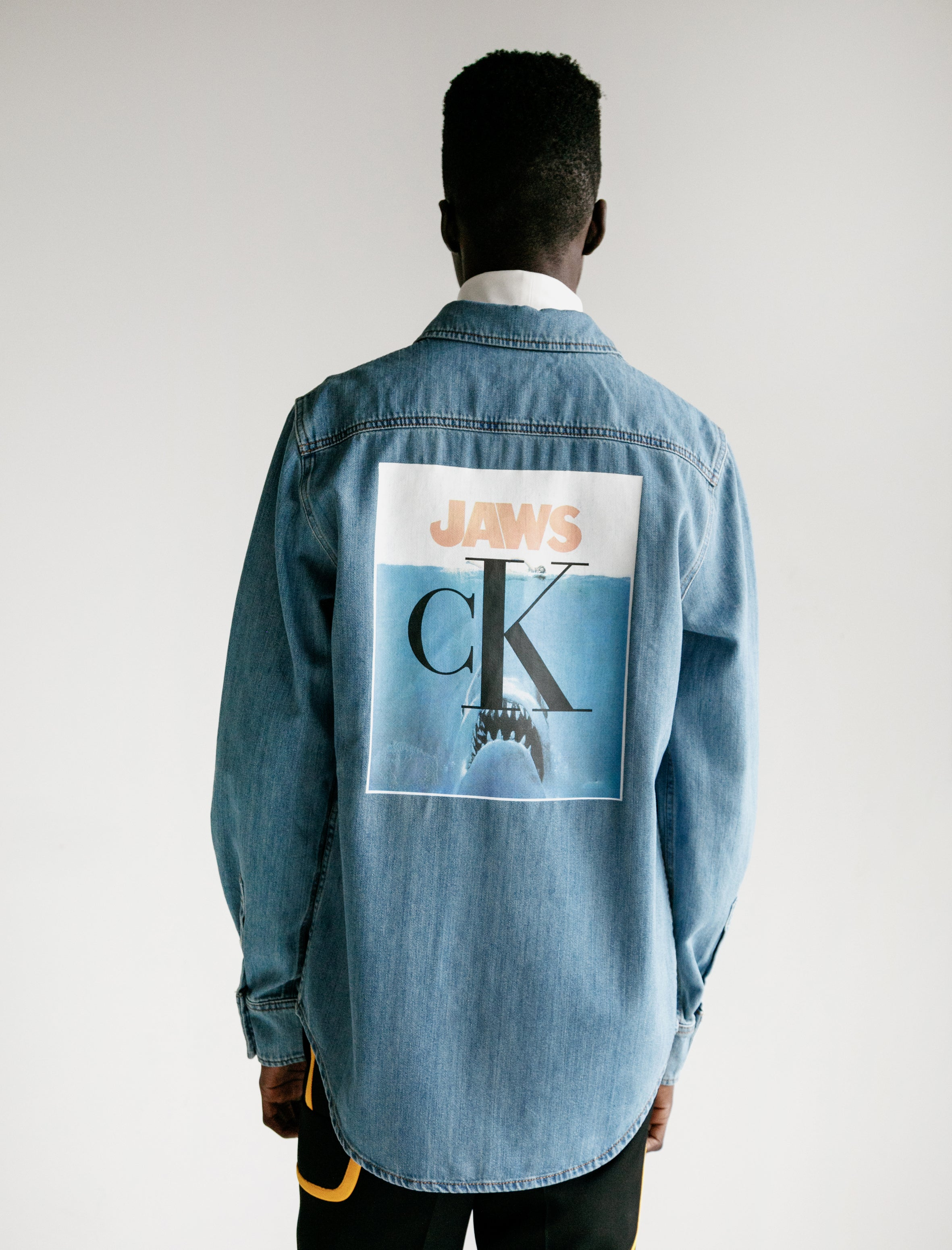Calvin Klein 205 W39 NYC Denim Jaws Shirt
