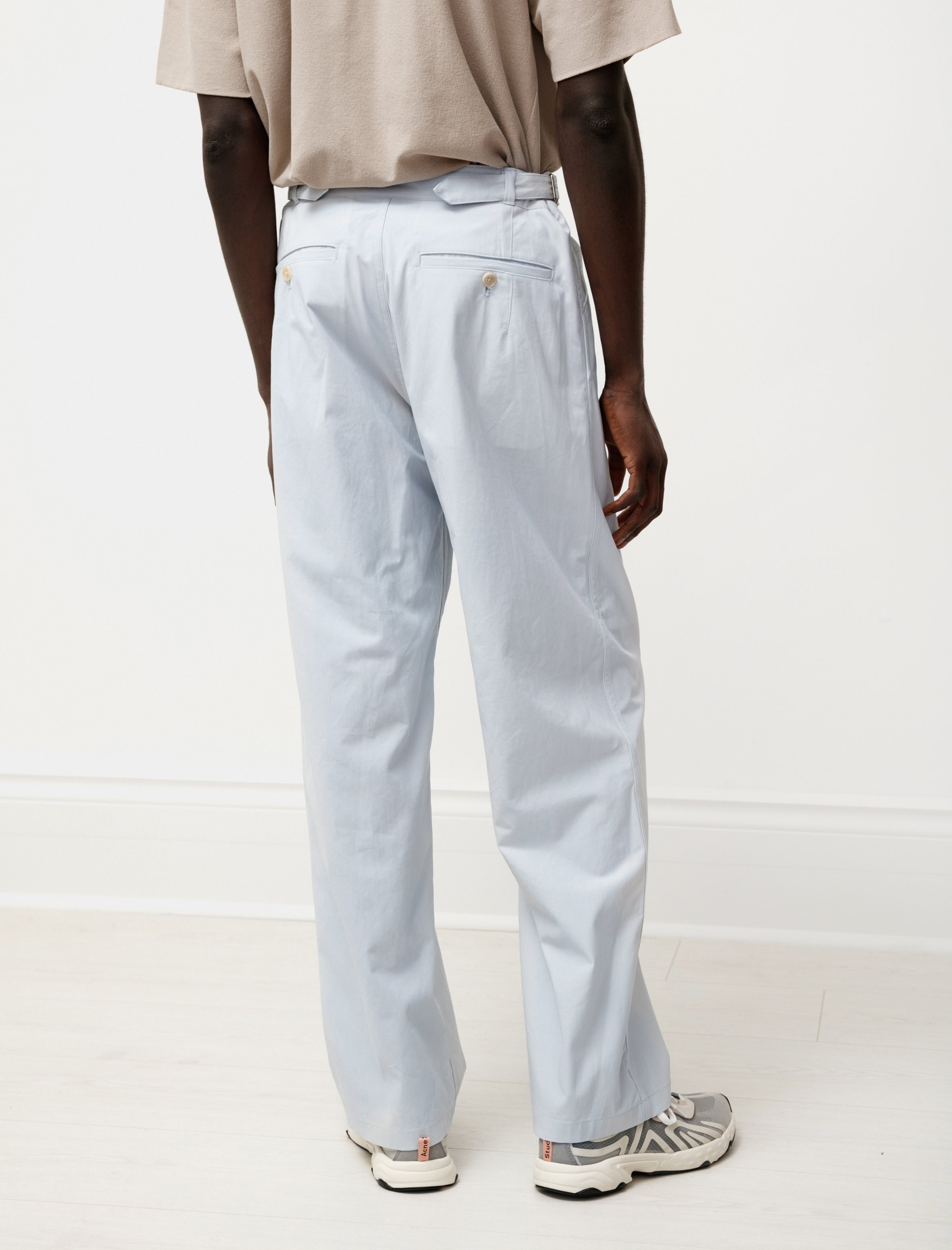 Auralee Finx Hard Twist Gabardine Pants Light Blue