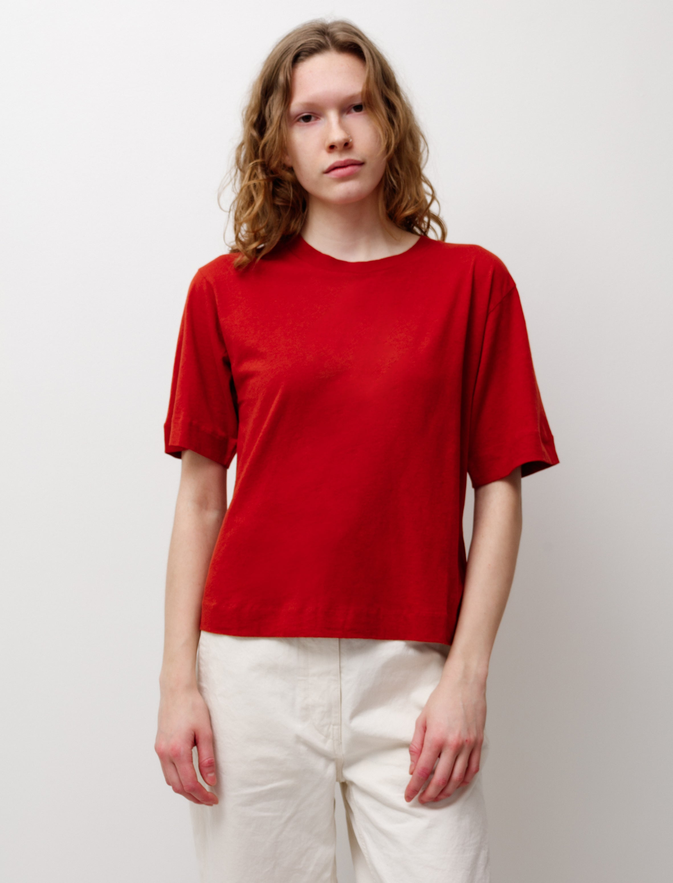 Needles L/S Mock Neck Tee Eggplant