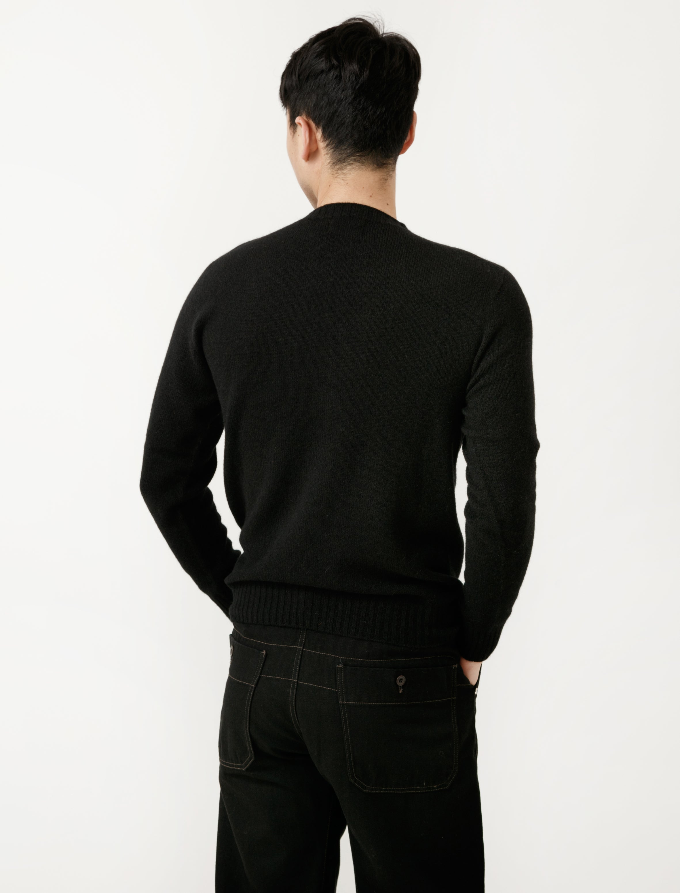 Neighbour Superfine Wool Sweater Nero