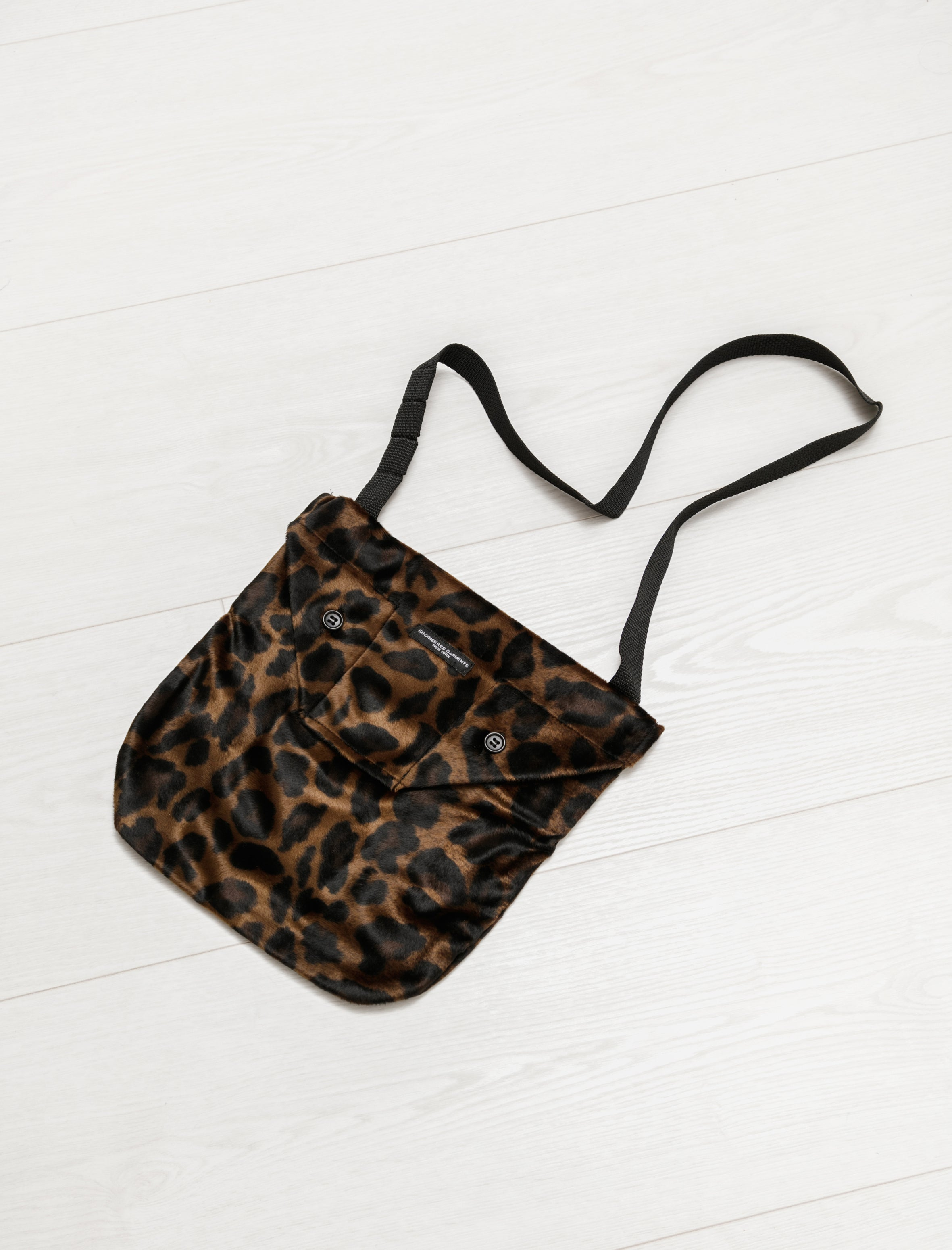 Engineered Garments Shoulder Pouch Leopard Dark Brown