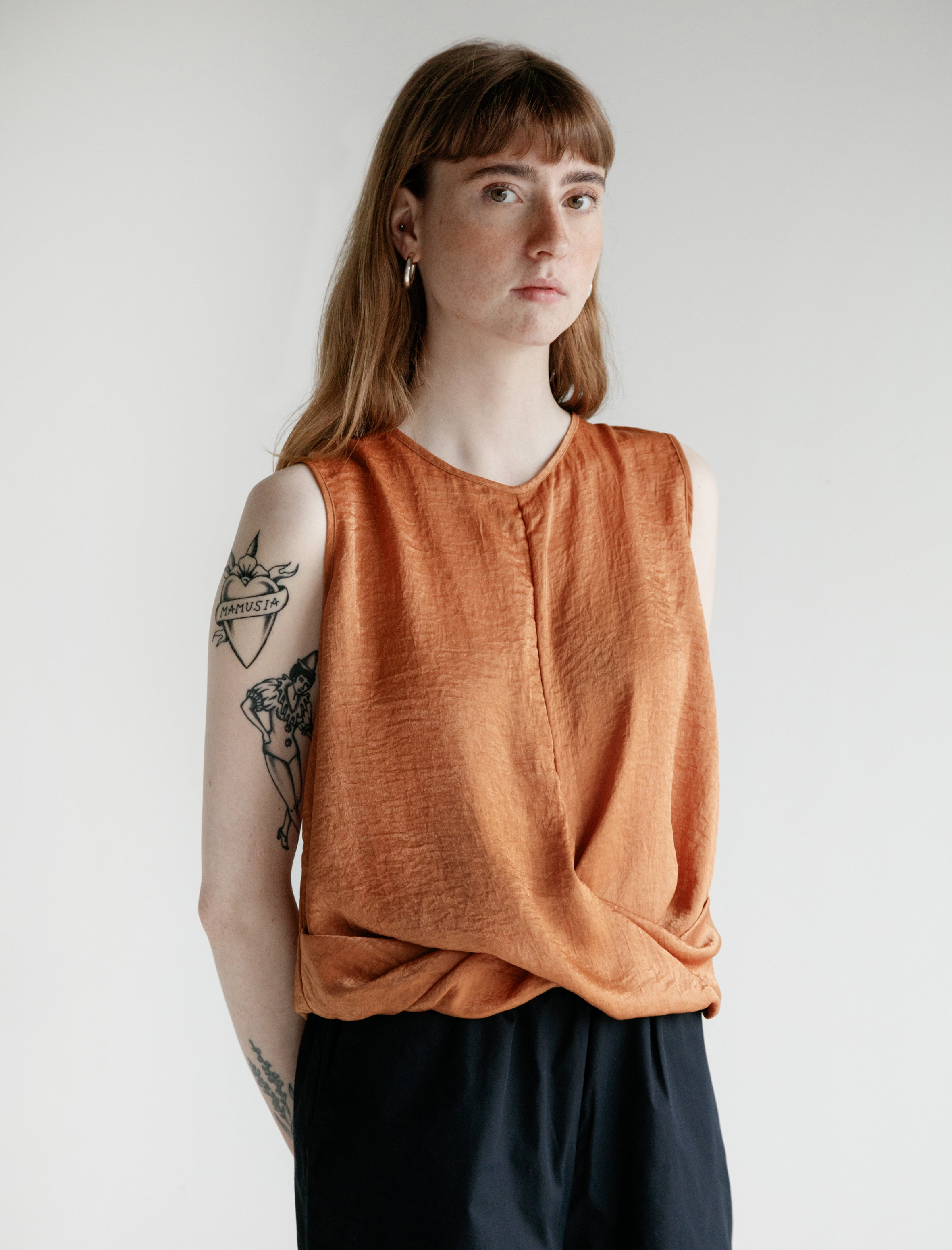 Priory Knot Tank Burnt Orange