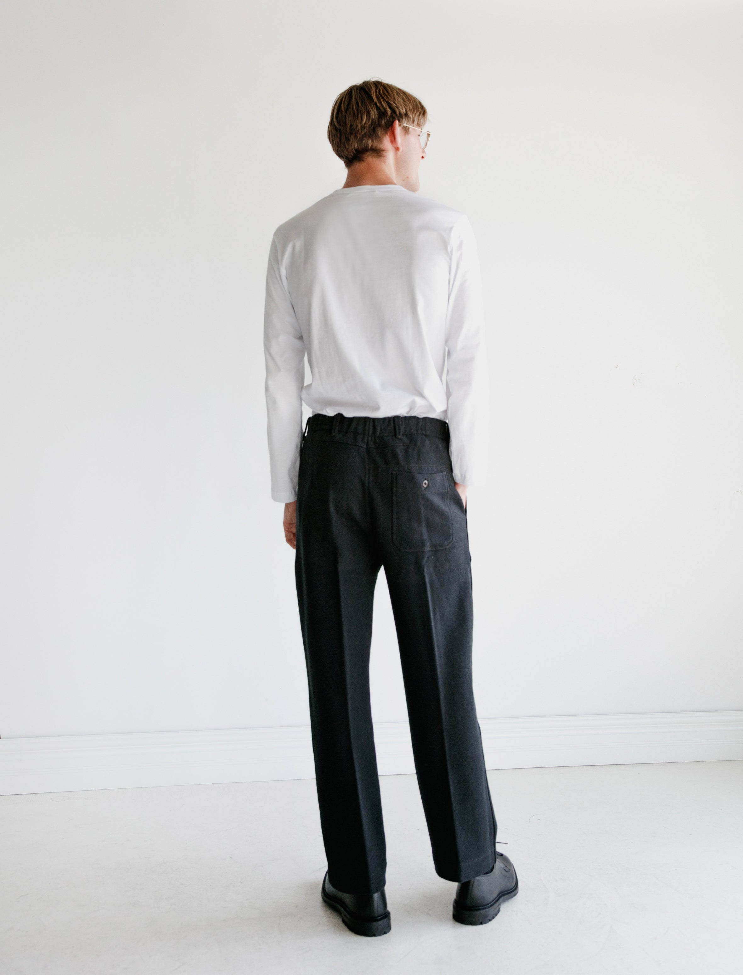 Lemaire Jersey Chino Pants Black
