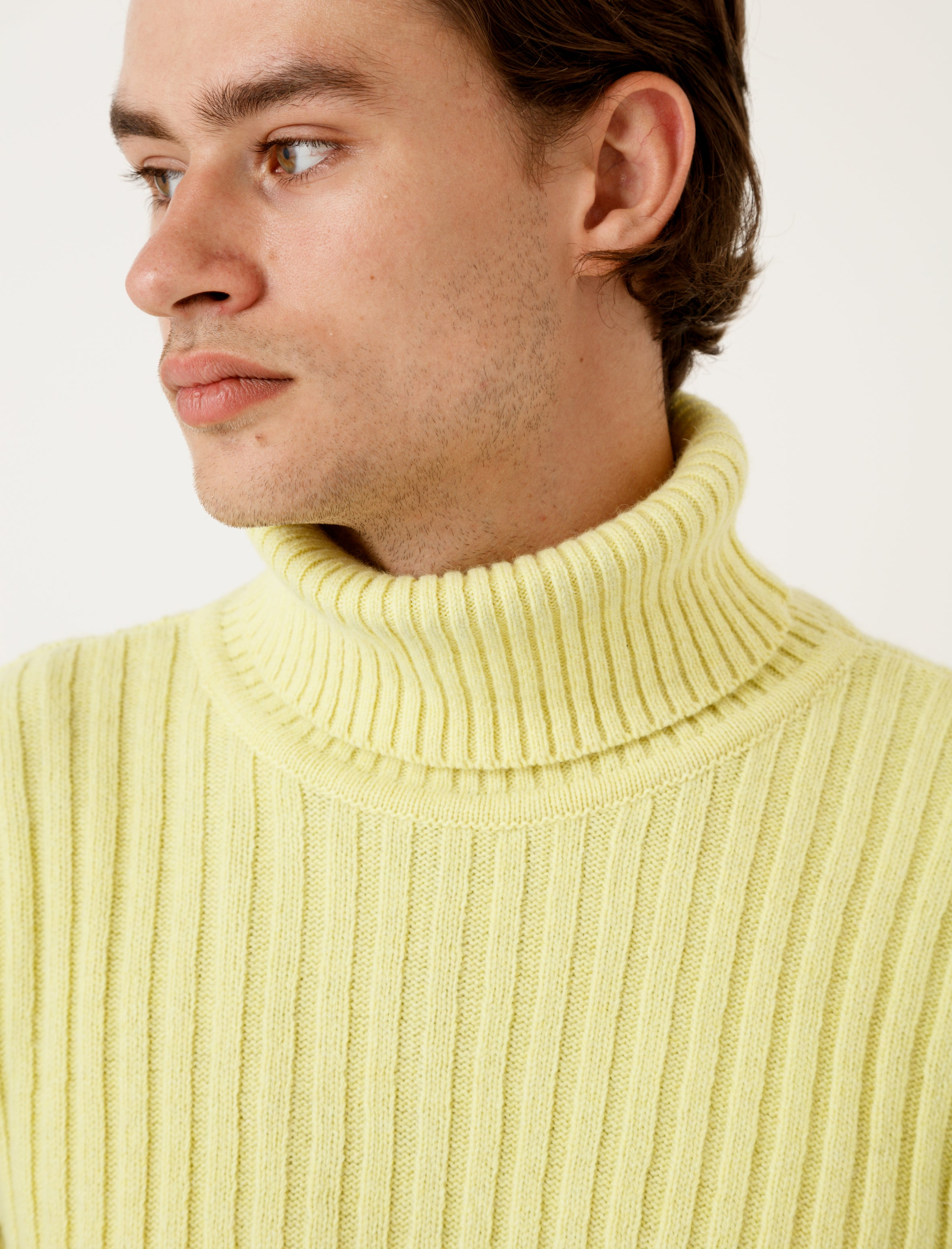 Our Legacy Rib Turtleneck Citron Wool