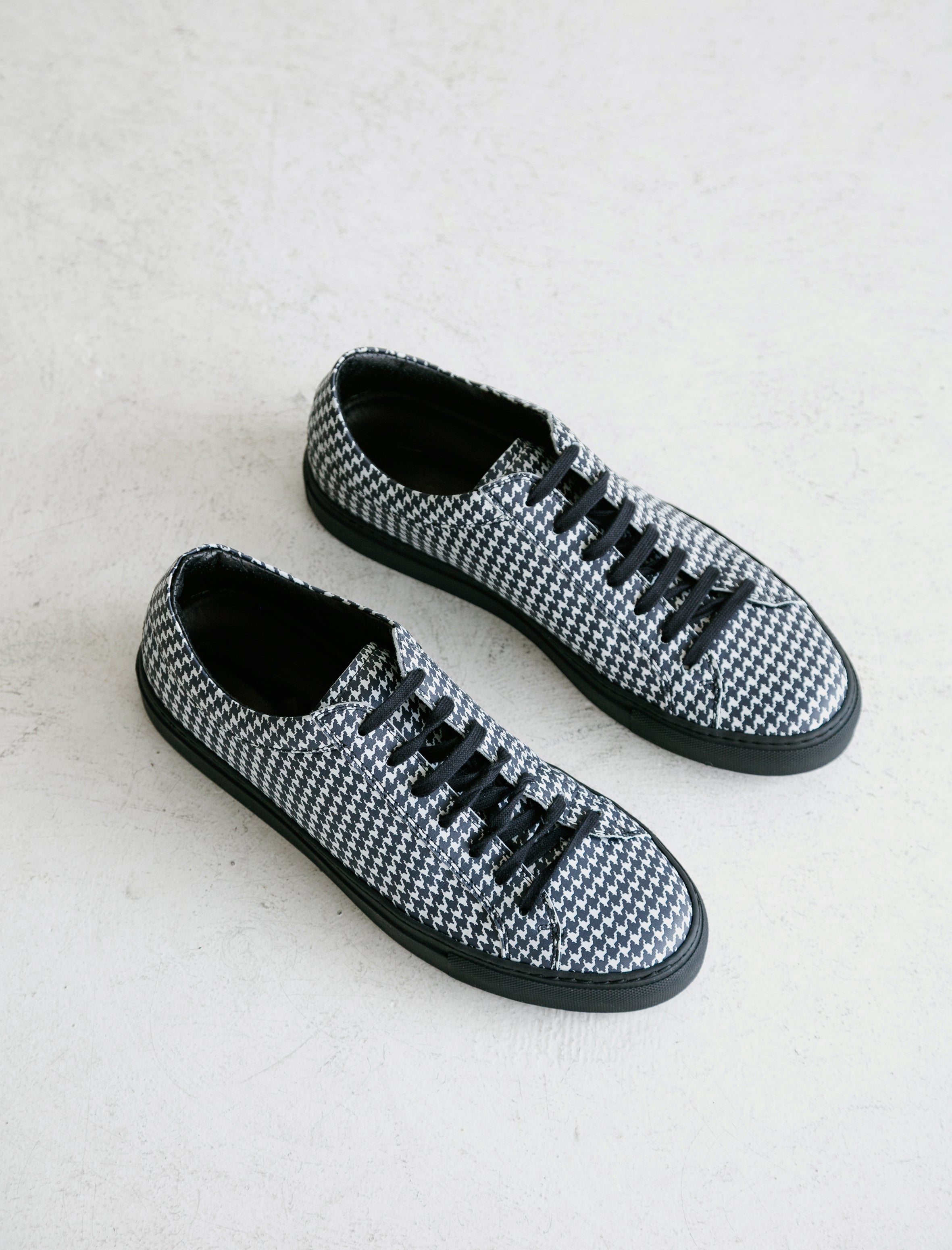 Dogtooth Leather Sneaker