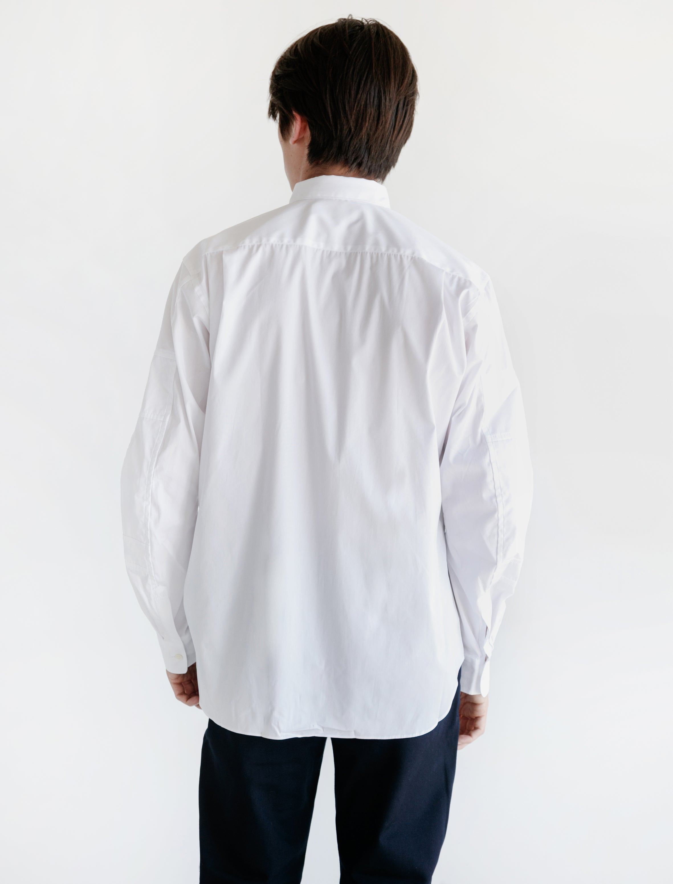 White Shirt Panelled Sleeve