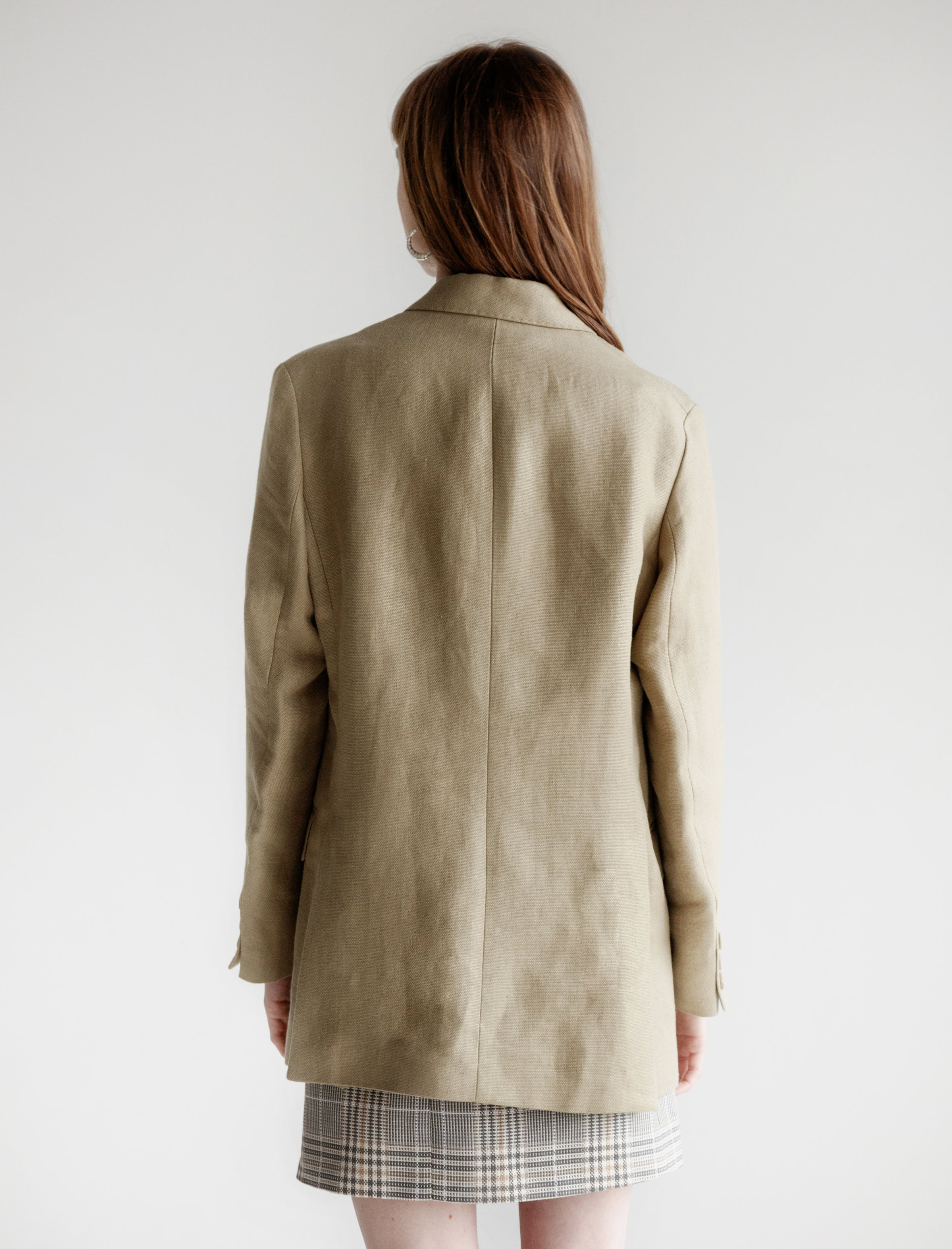 Our Legacy Unconstructed DB Blazer Raw Olive