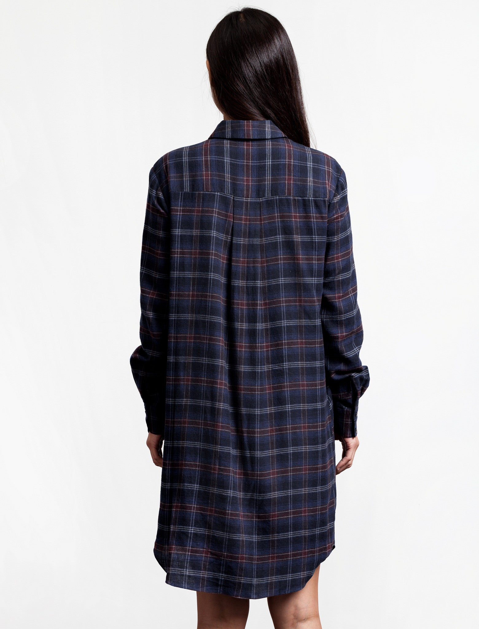 Thakoon Addition Flannel Side Tie Dress