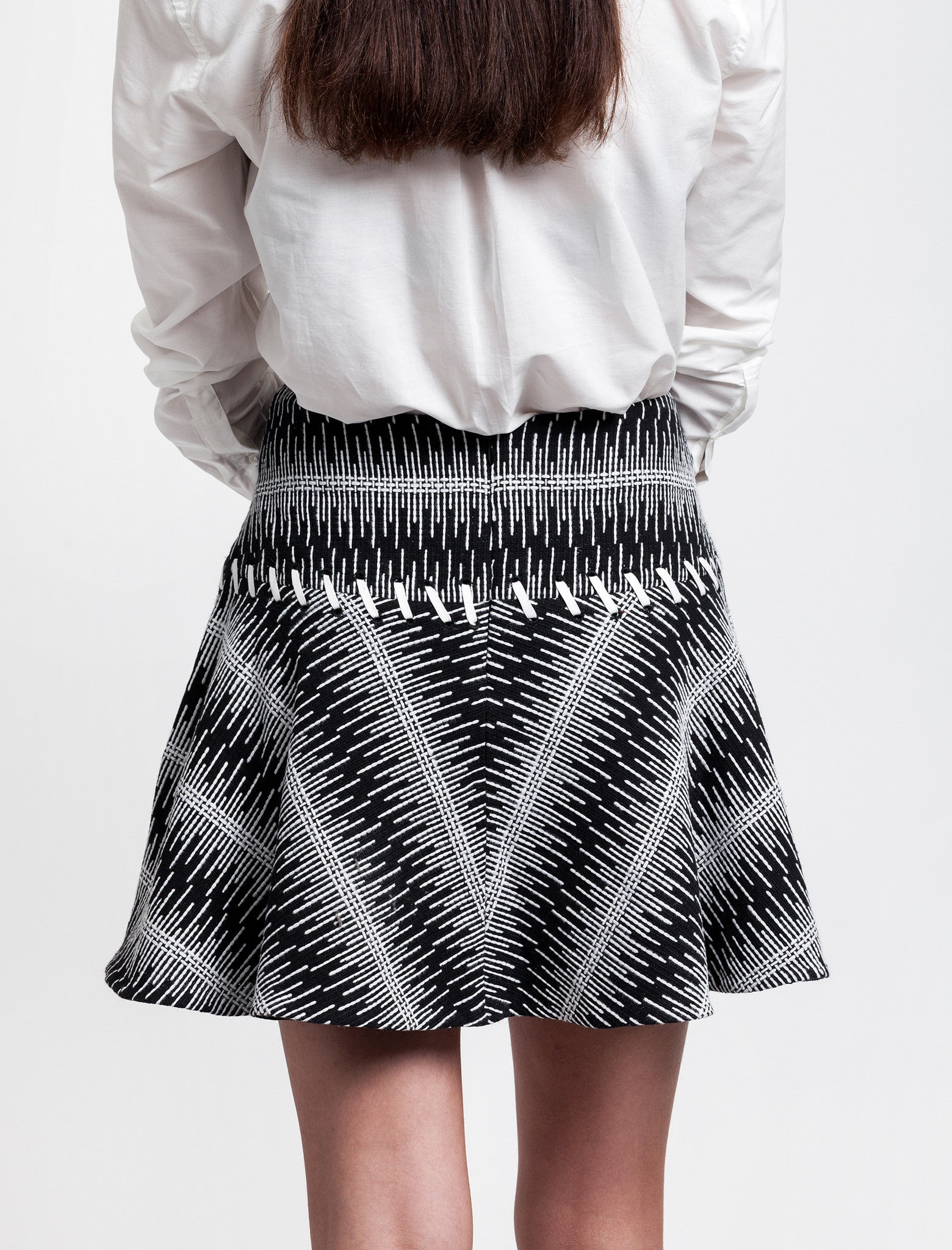 Thakoon Addition Cotton Tweed Full Skirt