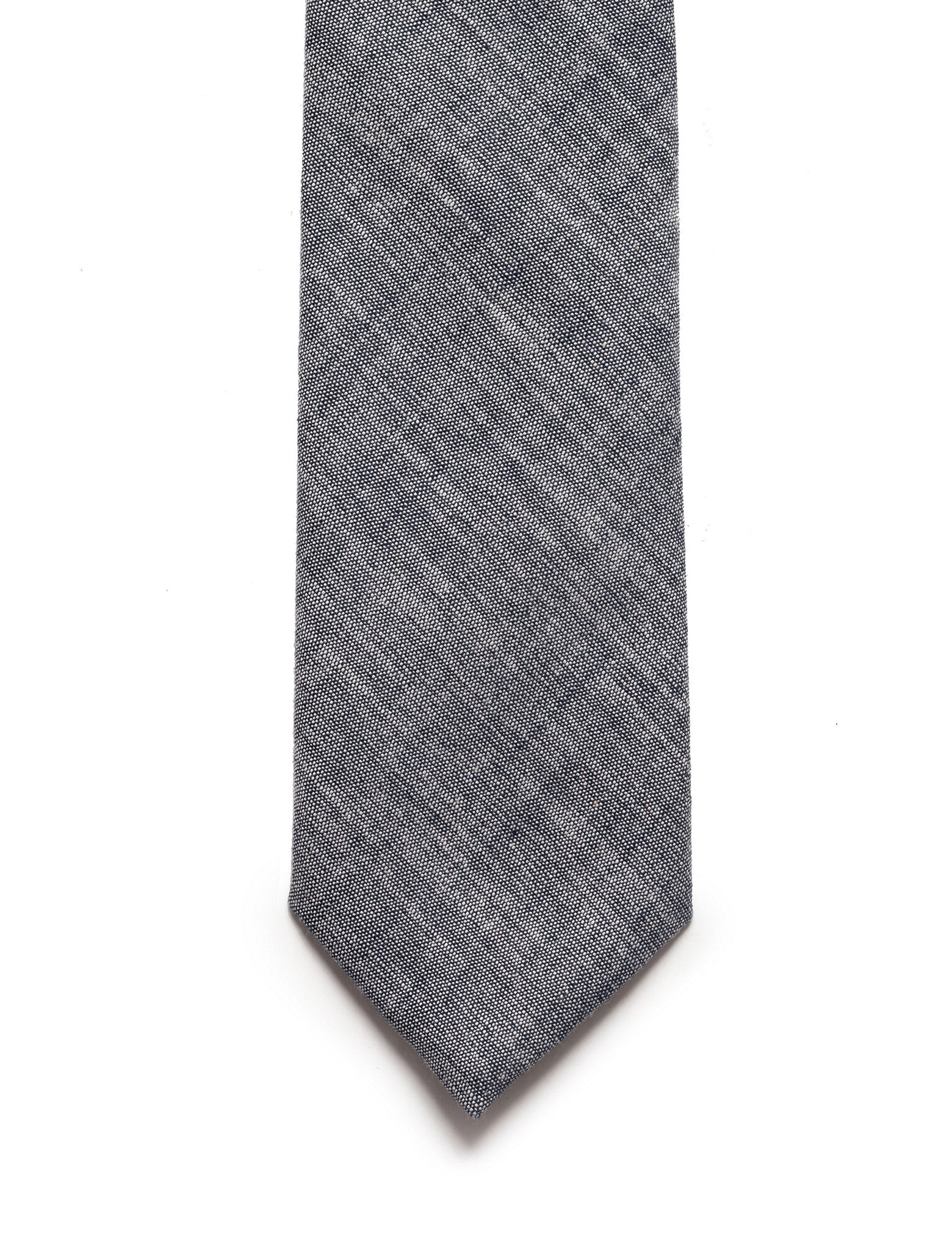 Cotton Tie Navy Chambray