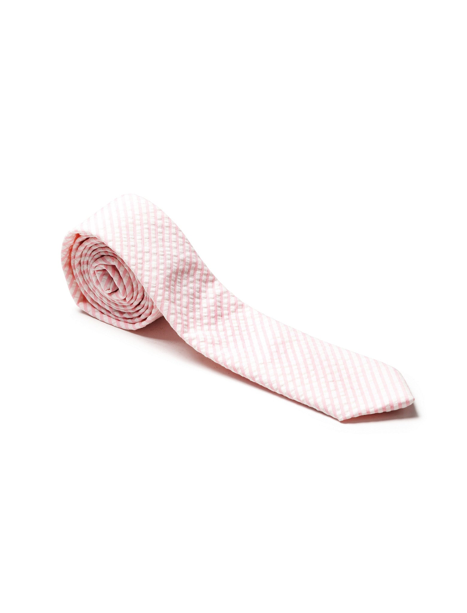 Cotton Tie Pink Seersucker