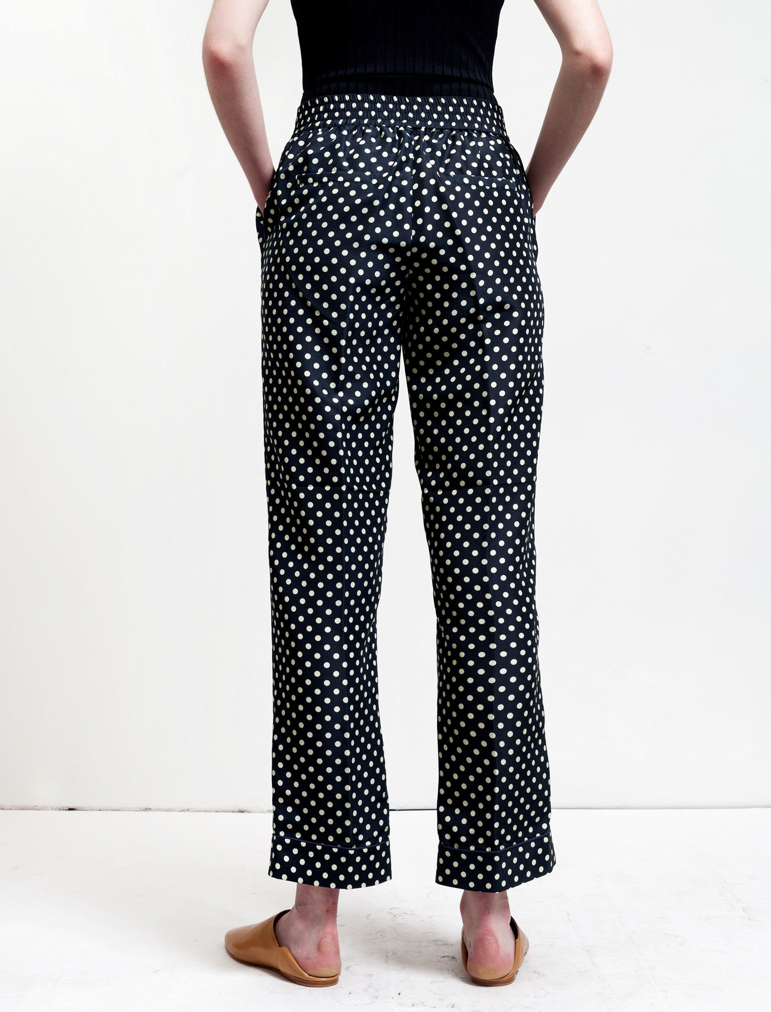 Trademark Polka Dot Silk Pant