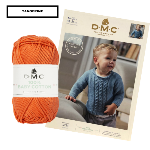 Children's Knit Jumper / Sweater Or Vest With Cables Project Pack (Includes Yarn + FREE Pattern)