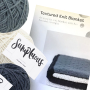 Textured Knit Blanket Project Pack