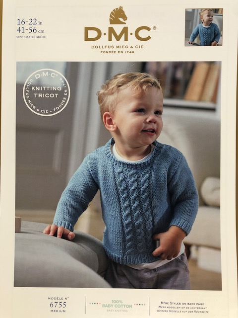 DMC Pattern 6755 Children's Jumper with Cables