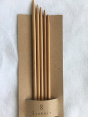 Double Point Bamboo Knitting Needles Set of 5 Kinki Amibari KA Seeknit