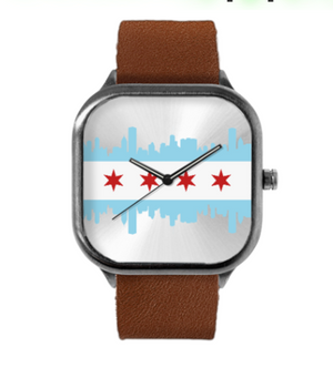 Steel Case watch Chicago flag
