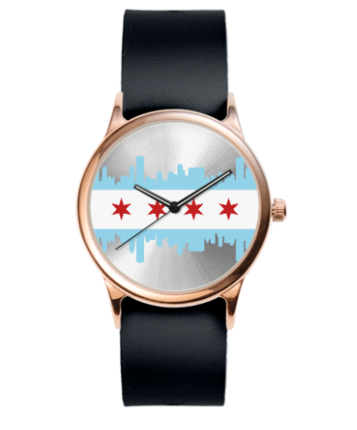 Women's watch Chicago flag
