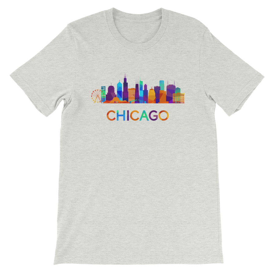 Chicago T-Shirt Colorful Skyline