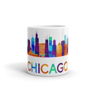 Chicago Mug Colorful Skyline