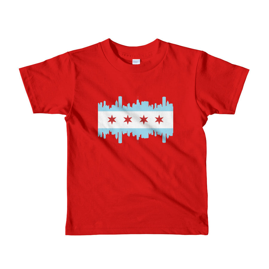 Chicago Kids T-Shirt Flag and Skyline